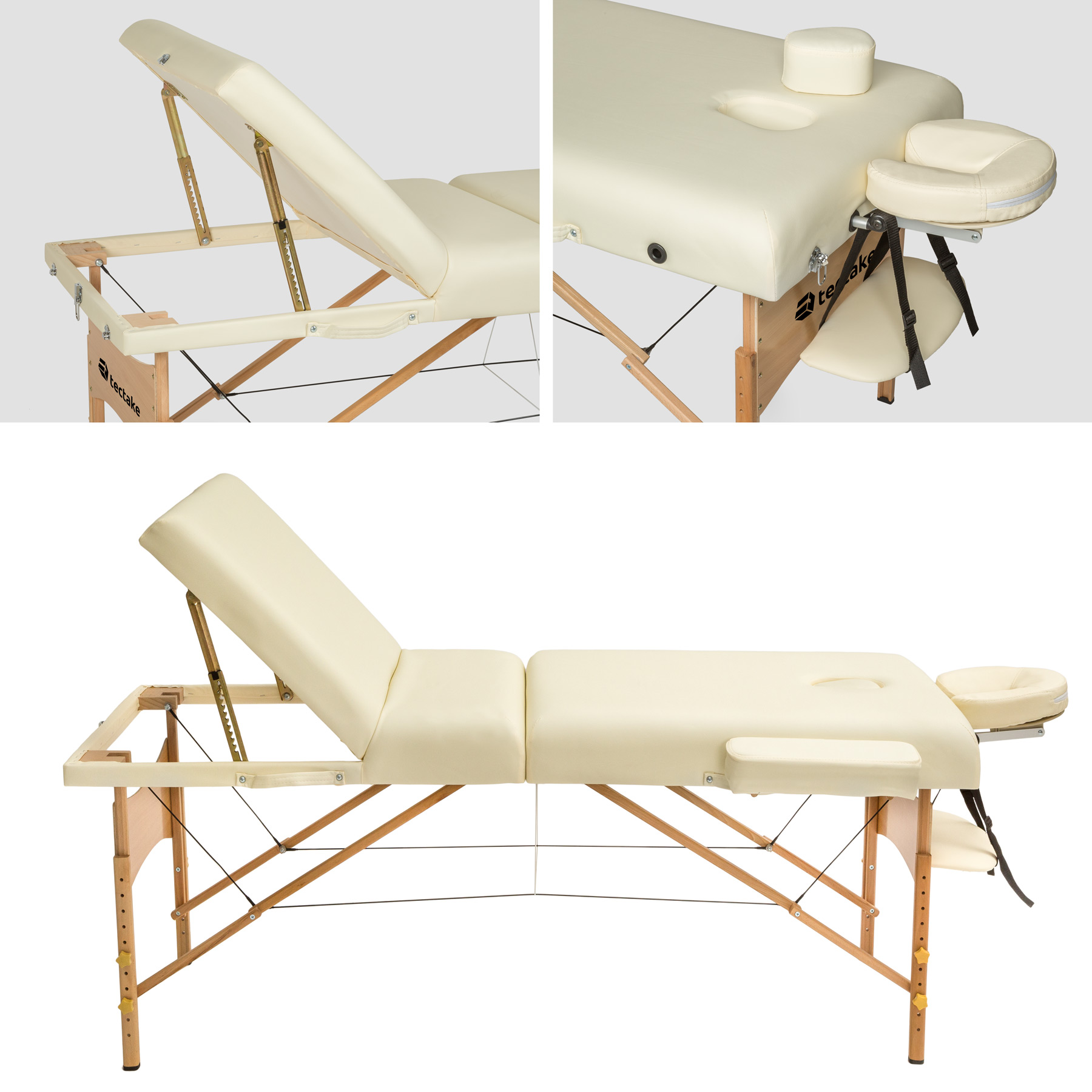 Luxury portable folding massage table therapy beauty bed for Foldable beauty table