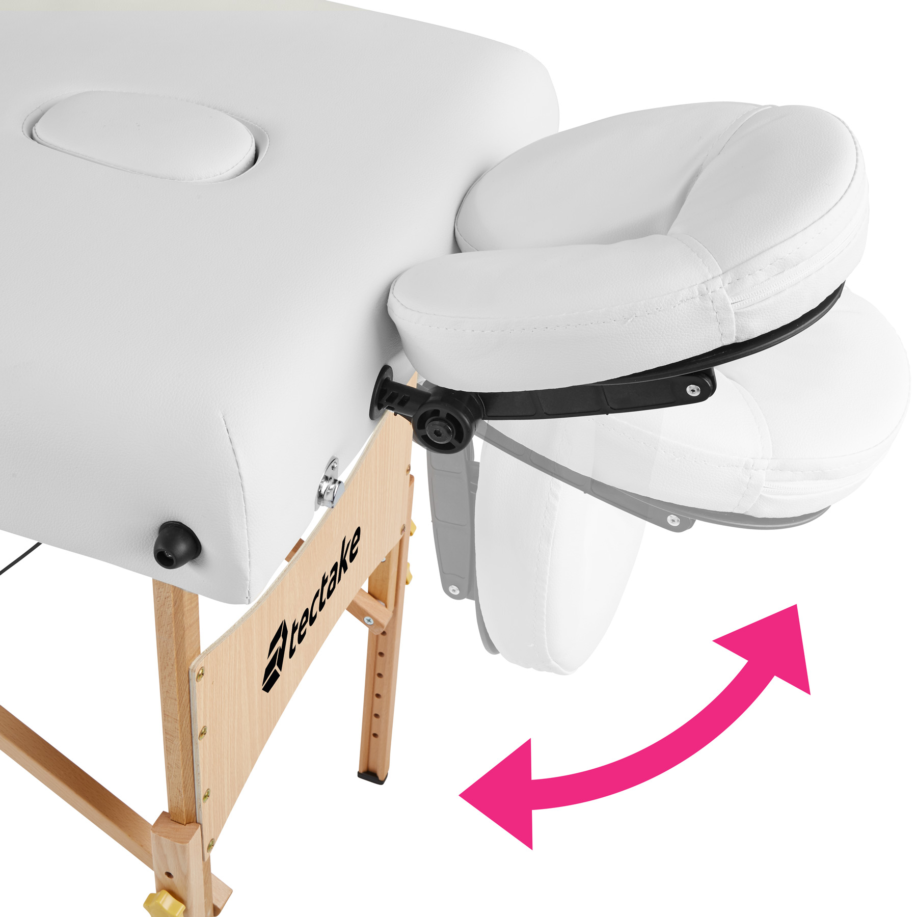 Adjustable portable folding massage table bed therapy for Foldable beauty table