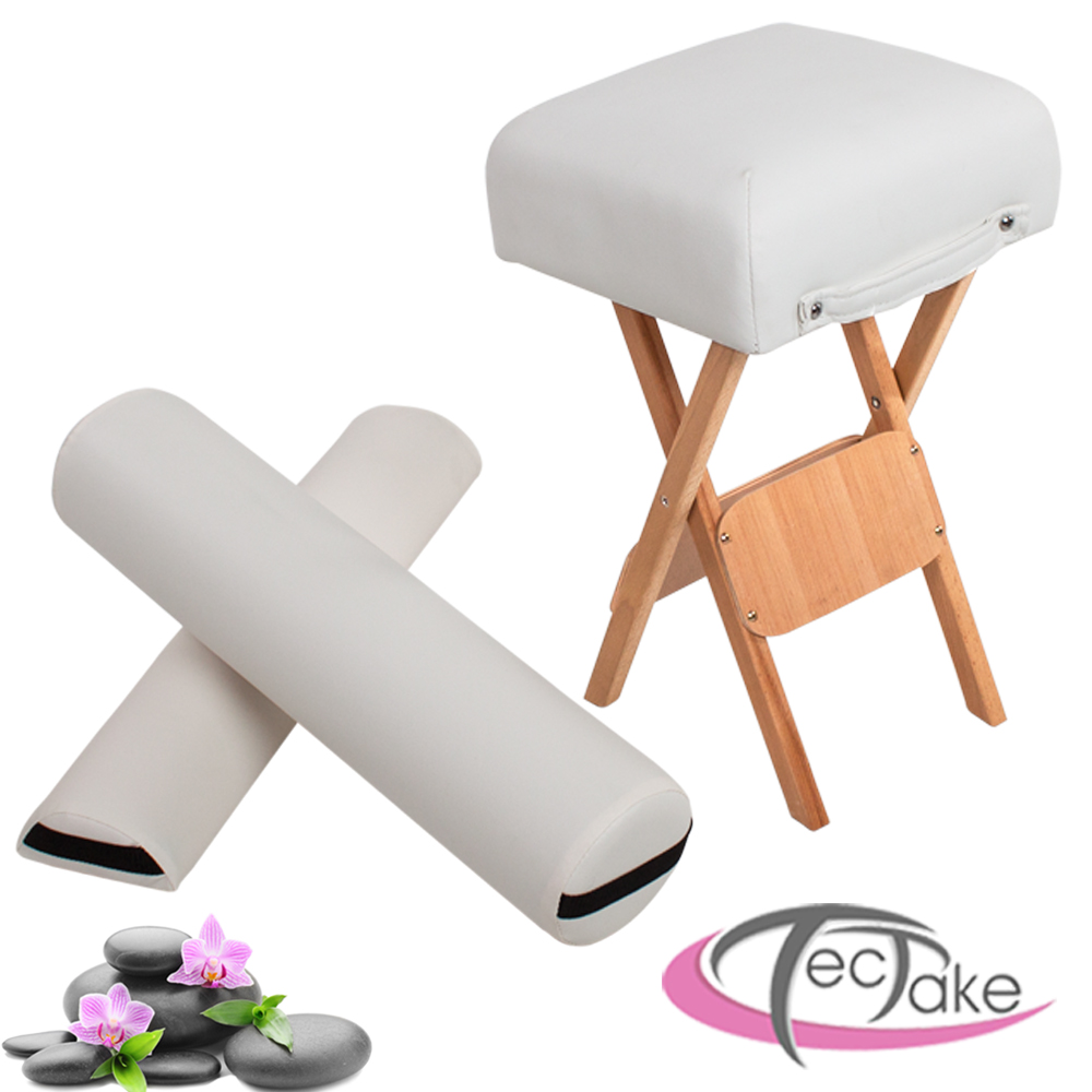 table massage accessoires tabouret coussin demi cylindre coussin rouleau blanc ebay. Black Bedroom Furniture Sets. Home Design Ideas