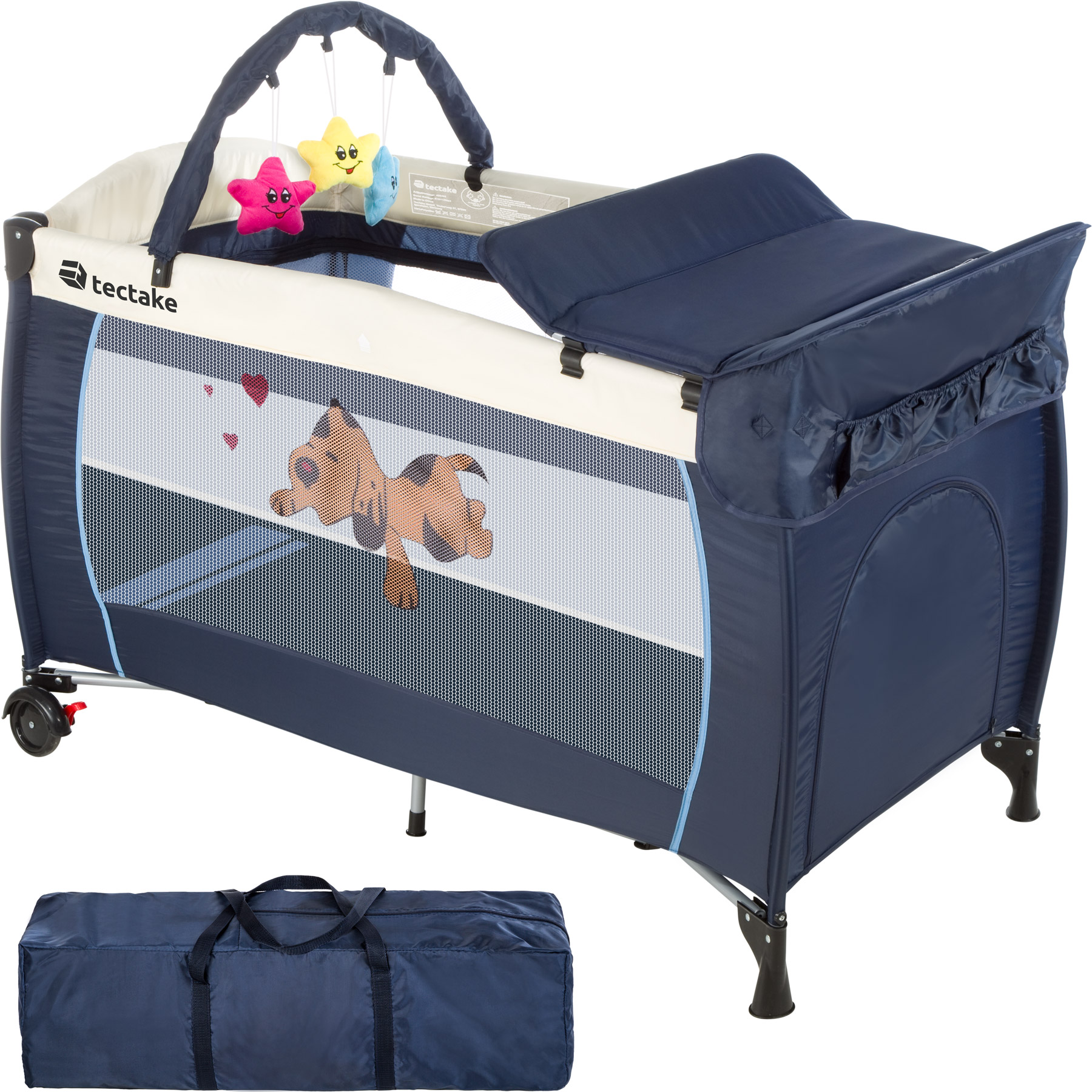 babybett kinder baby reisebett kinderreisebett einlage navy blau ebay. Black Bedroom Furniture Sets. Home Design Ideas