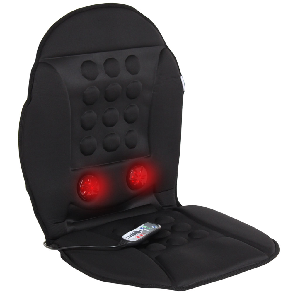Home Amp Car Heated Back Seat Cover Massager Infrared