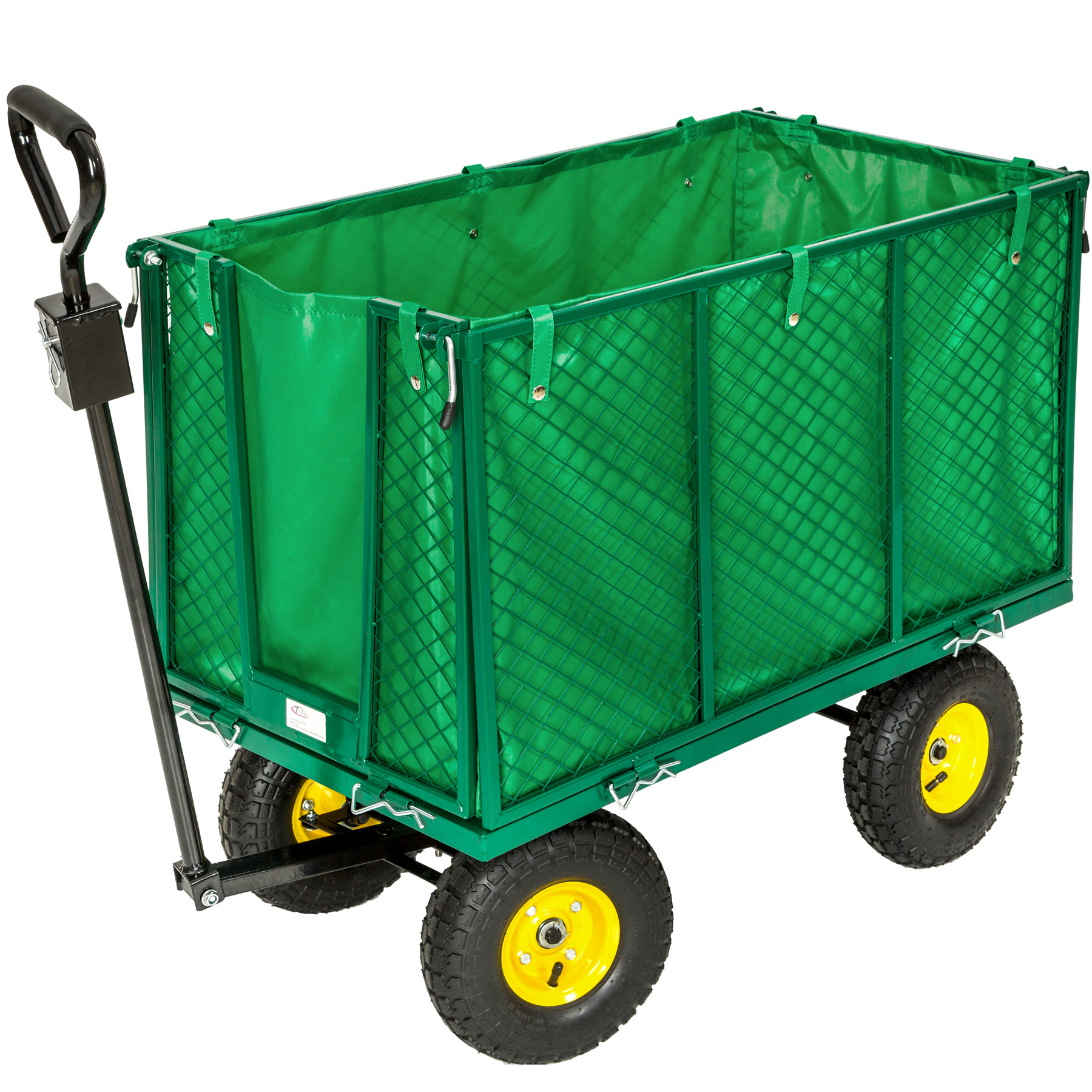 xxl heavy duty wheelbarrow garden mesh cart trolley. Black Bedroom Furniture Sets. Home Design Ideas