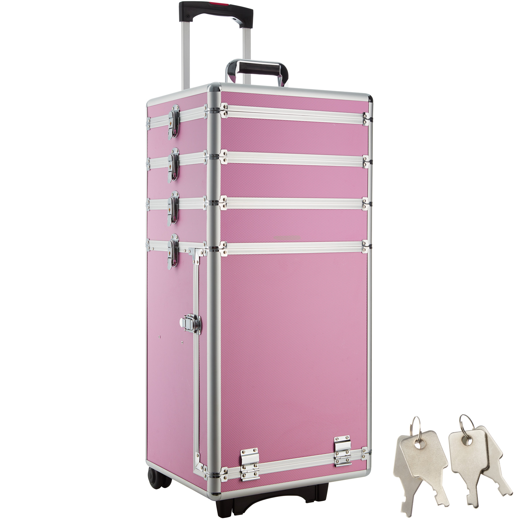 koffer gel beauty case acryl nagels make up cosmetica trolley pilot case roze ebay. Black Bedroom Furniture Sets. Home Design Ideas