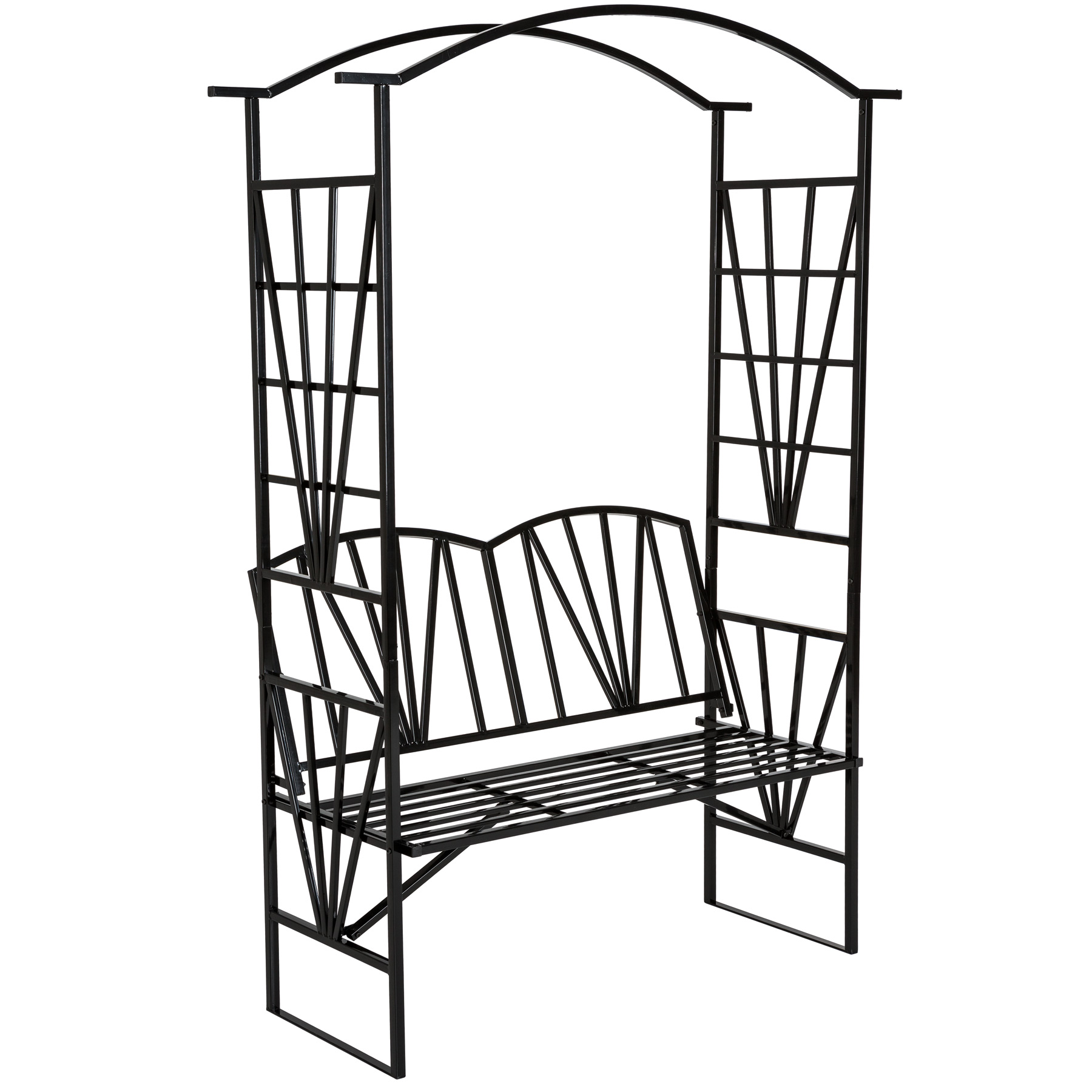 16 Attractive Window Seat Designs For Pleasant Relaxation: GARDEN ROSE ARCH TRELLIS CLIMBING PLANTS ROSES WITH BENCH