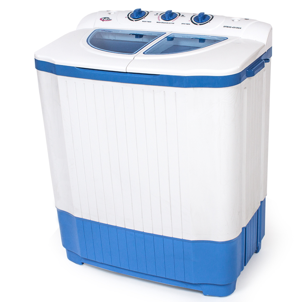 Mini washing machine 4 5 kg portable twin tub camping - Machine a laver petit modele ...