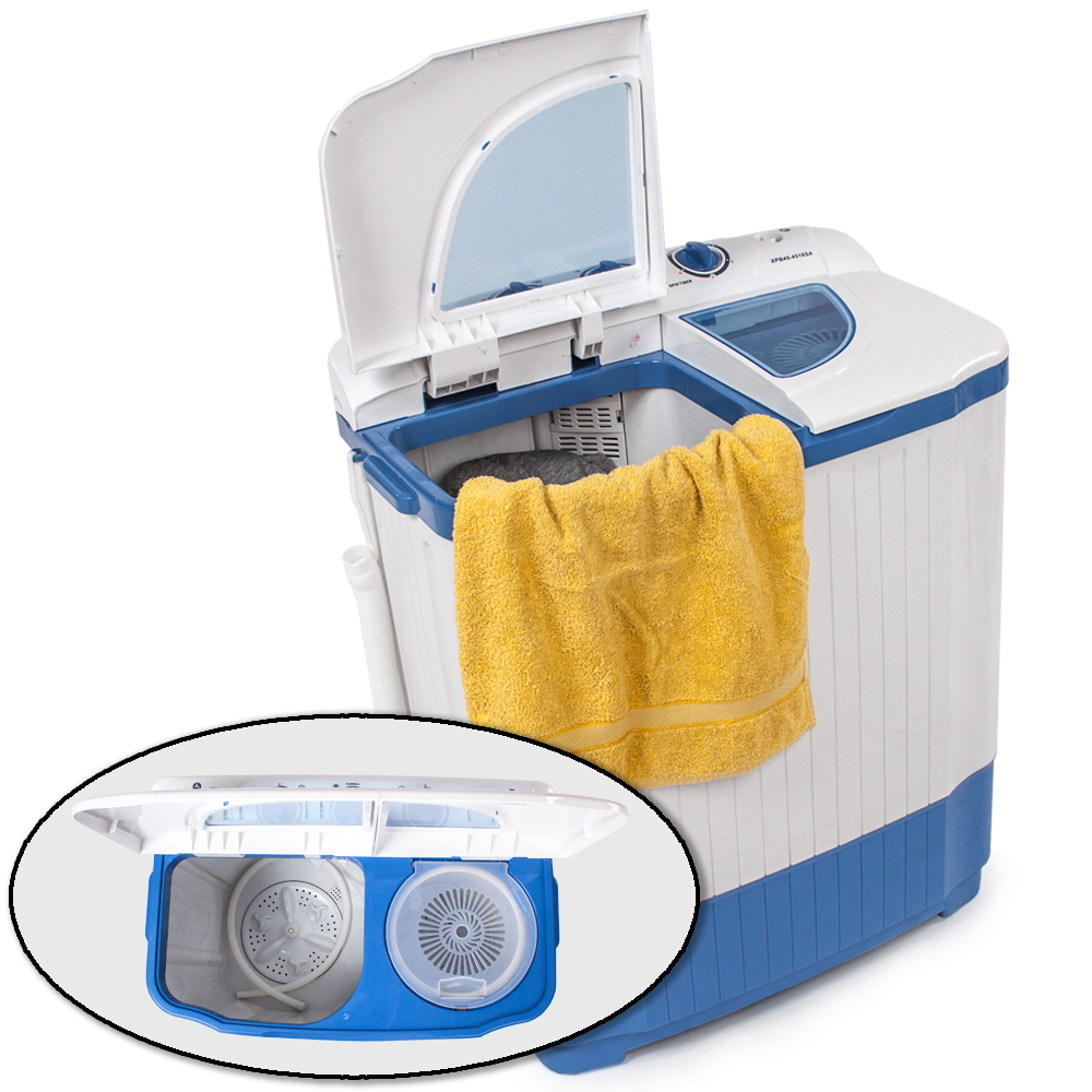 mini washing machine 4 5 kg portable twin tub camping washer spin