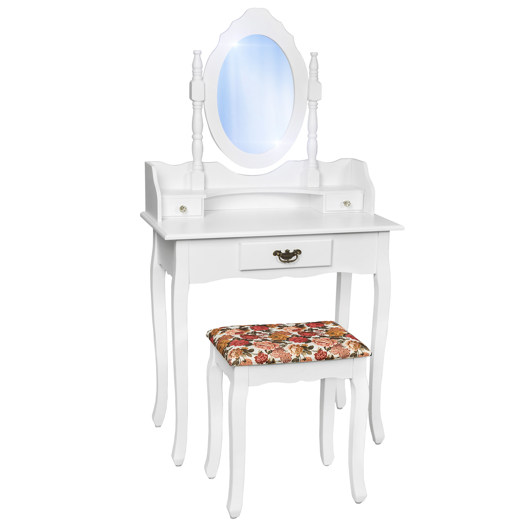 Make up table with stool dressing table mirror table vanity dressing table new ebay - Stool for vanity table ...