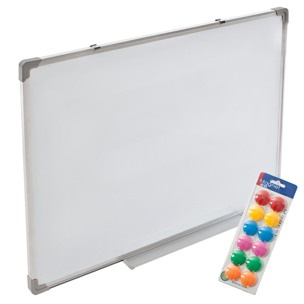 whiteboard magnettafel wandtafel 110 x 80 cm 12 magnete. Black Bedroom Furniture Sets. Home Design Ideas