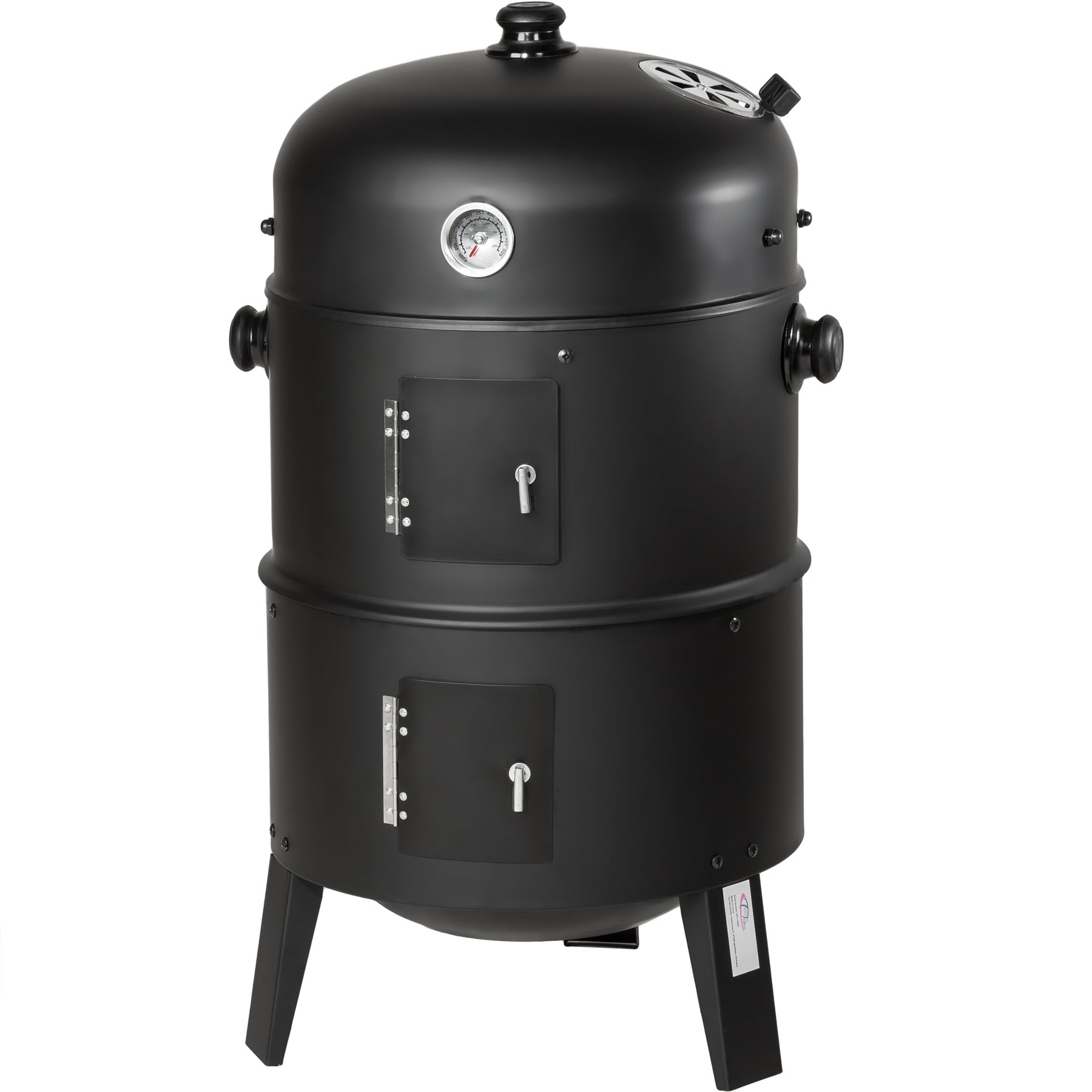 3in1 bbq barbecue charcoal smoker grill with temperature. Black Bedroom Furniture Sets. Home Design Ideas