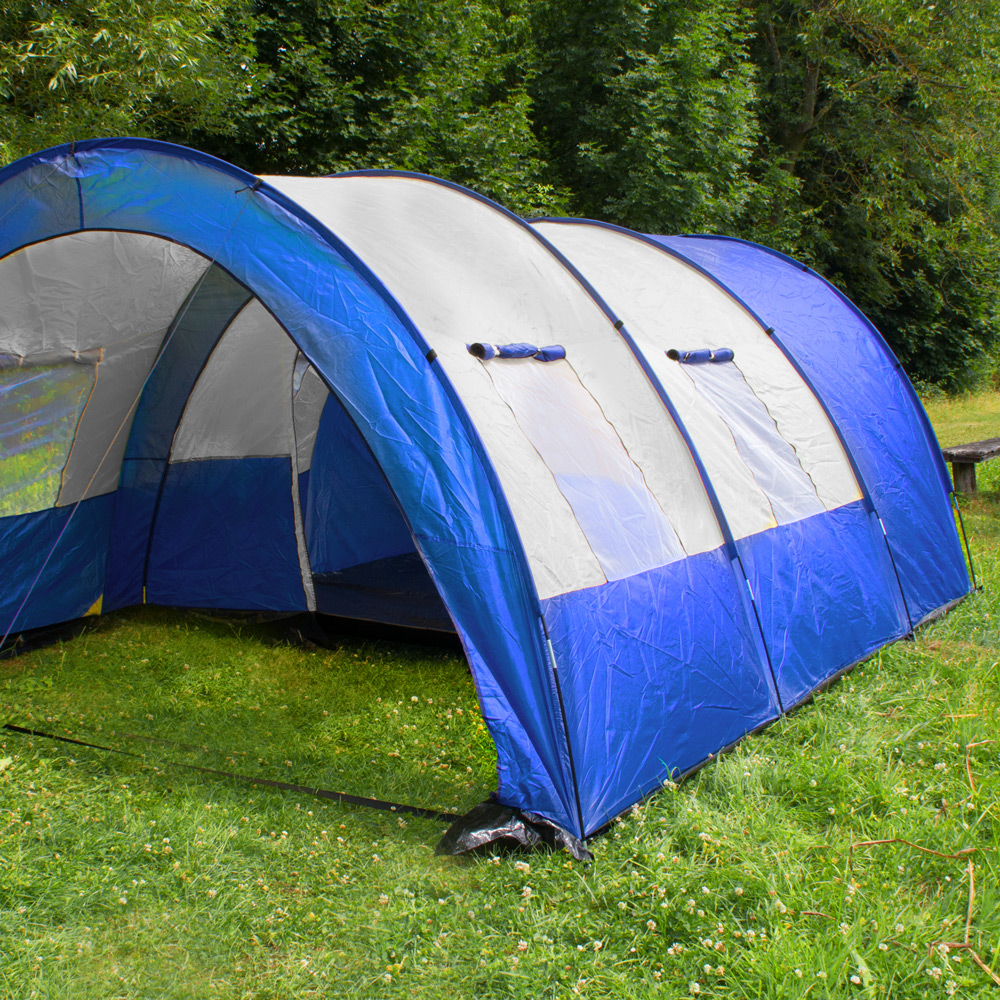 XXL CAMPING TUNNEL FAMILY TENT OUTDOOR GROUP TENTS 4