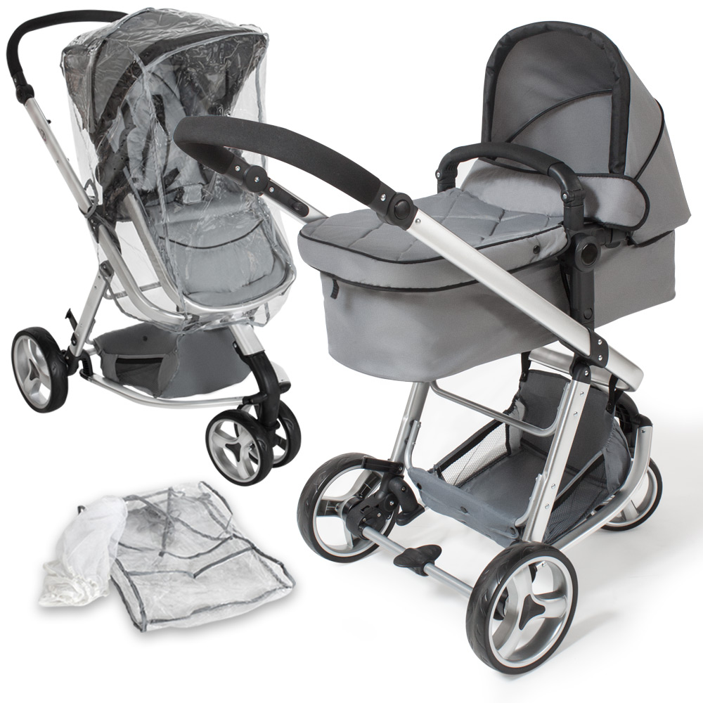 pram travel system 3 in 1 combi stroller buggy baby child. Black Bedroom Furniture Sets. Home Design Ideas