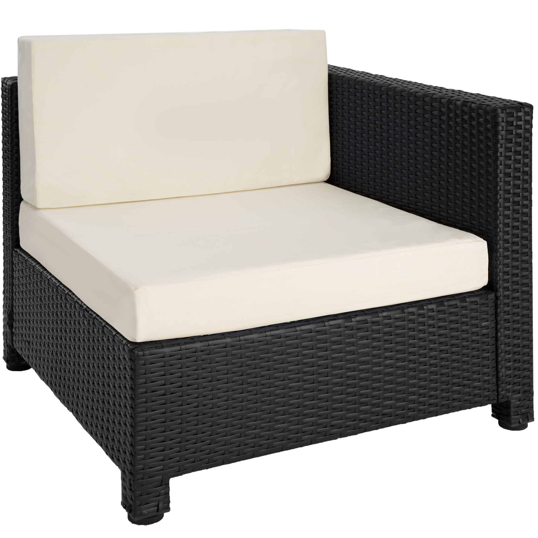 Salon de jardin canap fauteuil table basse pouf r sine for Table basse resine tressee