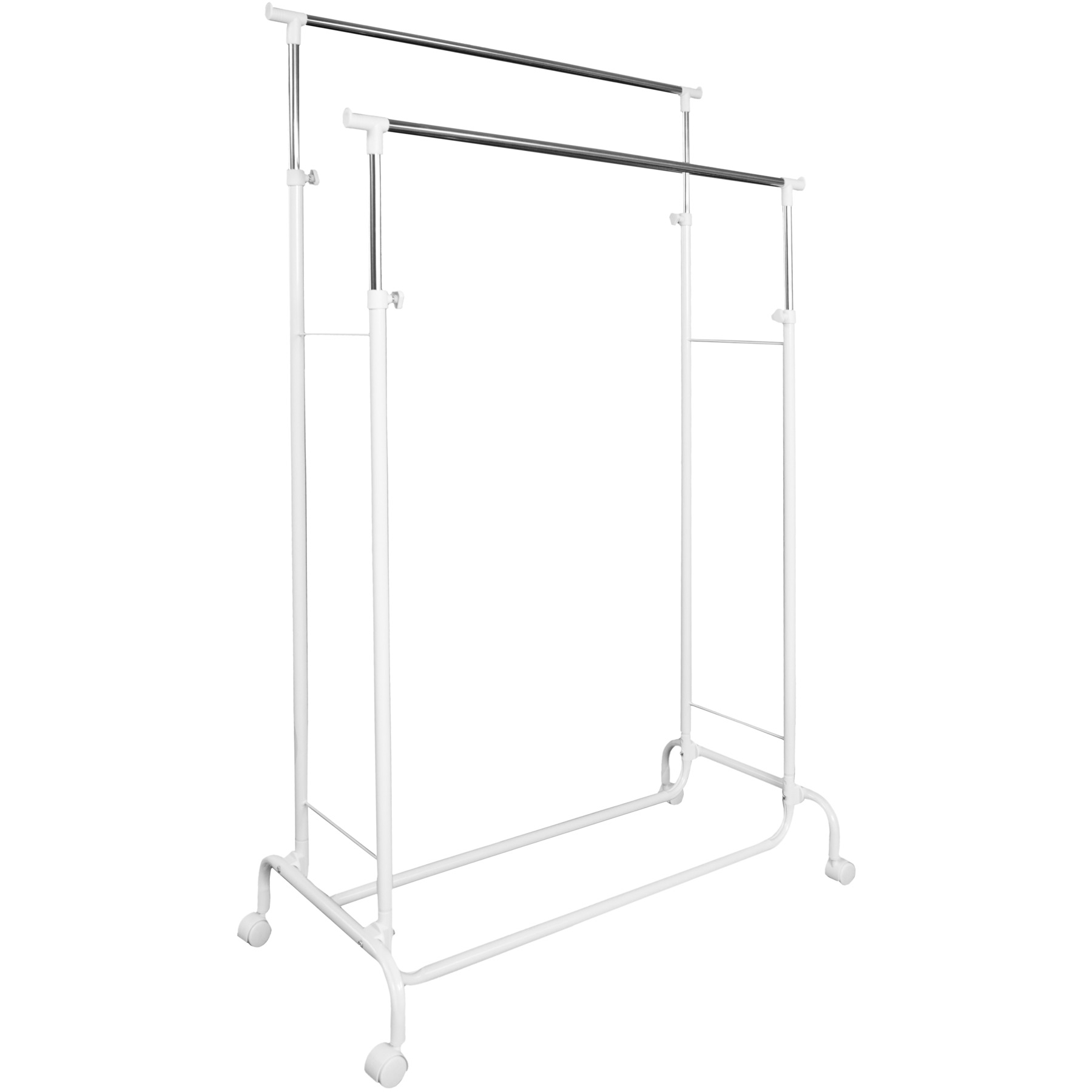 Clothes Rack Mobile Garment Rail Double Hanging Ebay