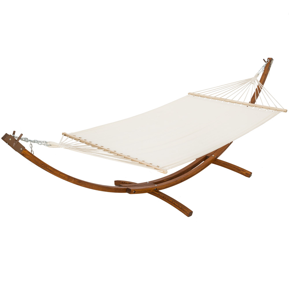 Xxl pine wooden double hammock with hammock frame stand - Hamac double avec support ...