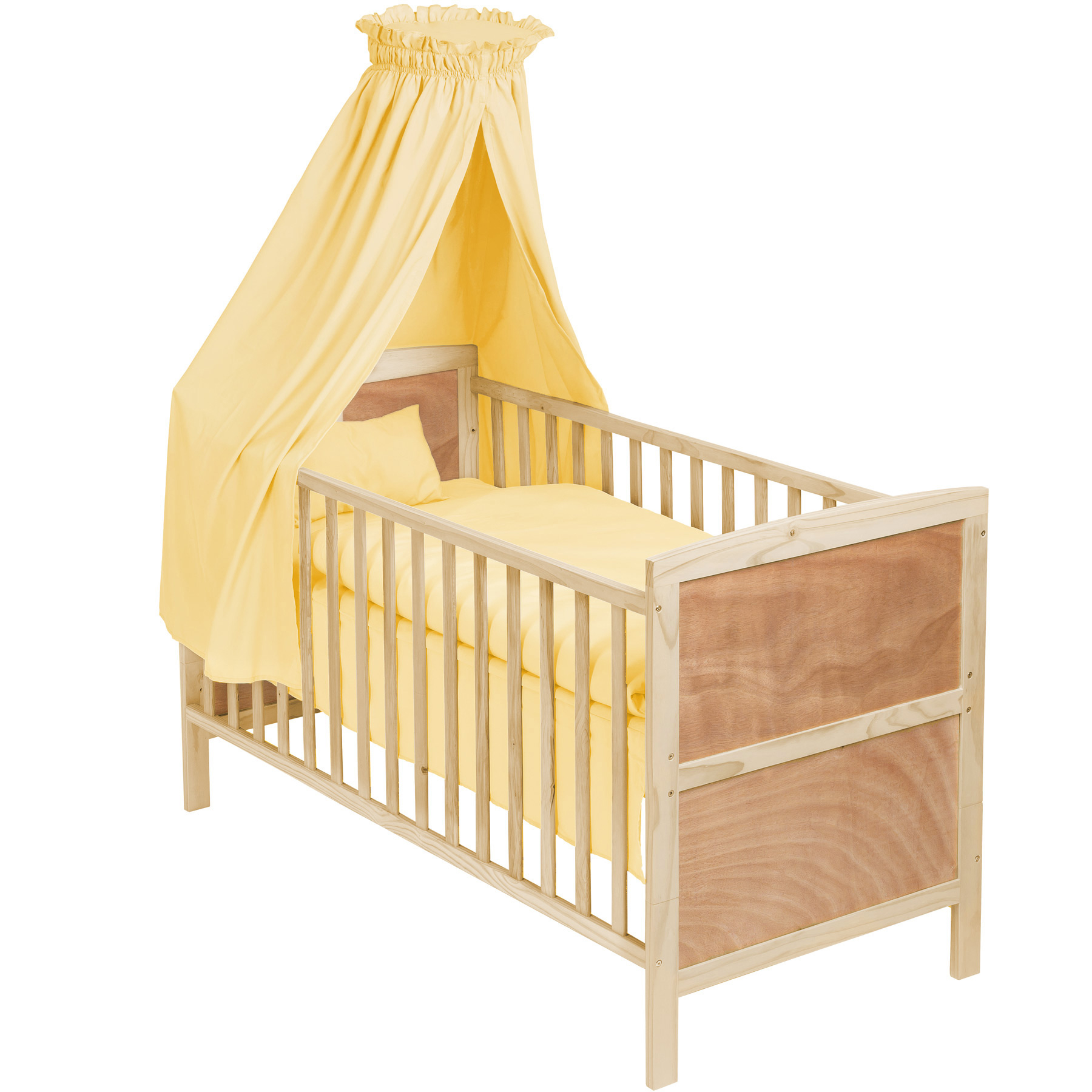 Baby crib cradle cot bassinet bed wood moses basket bedding set mattress roof n - Couette lit bebe ikea ...