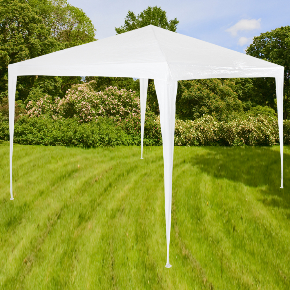 tonnelle de jardin barnum auvent chapiteau tente pavillon de jardin 3x3 m blanc ebay. Black Bedroom Furniture Sets. Home Design Ideas