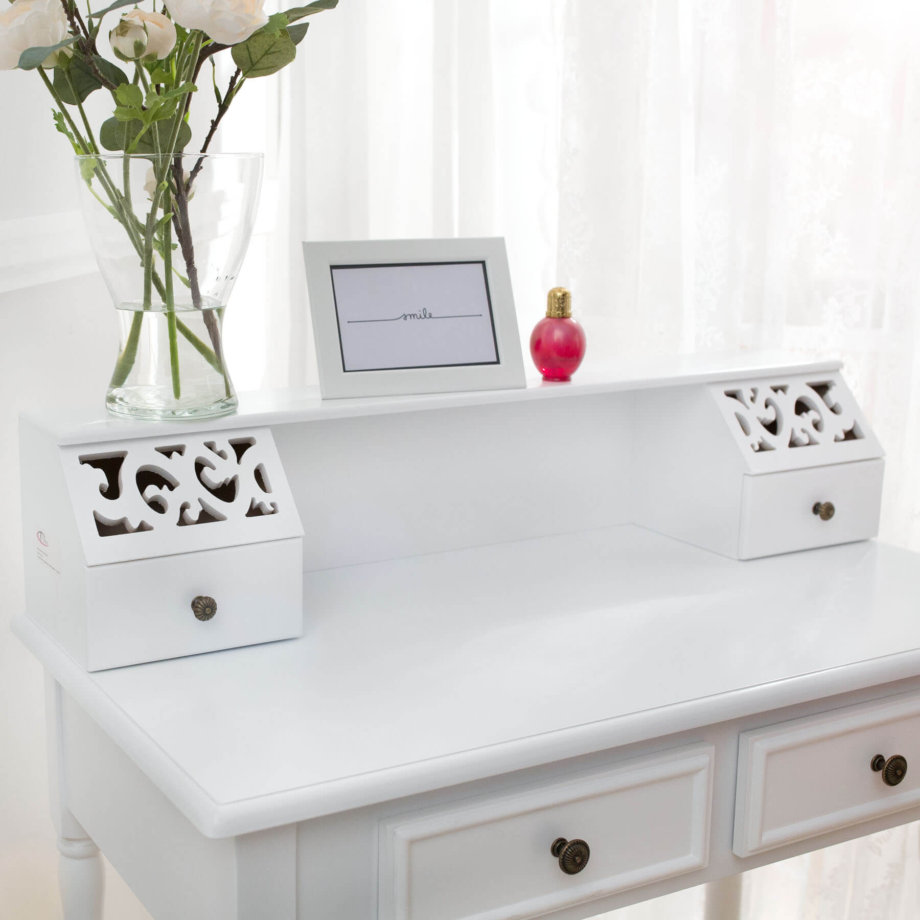 make up table dressing vanity room bedroom desk with stool