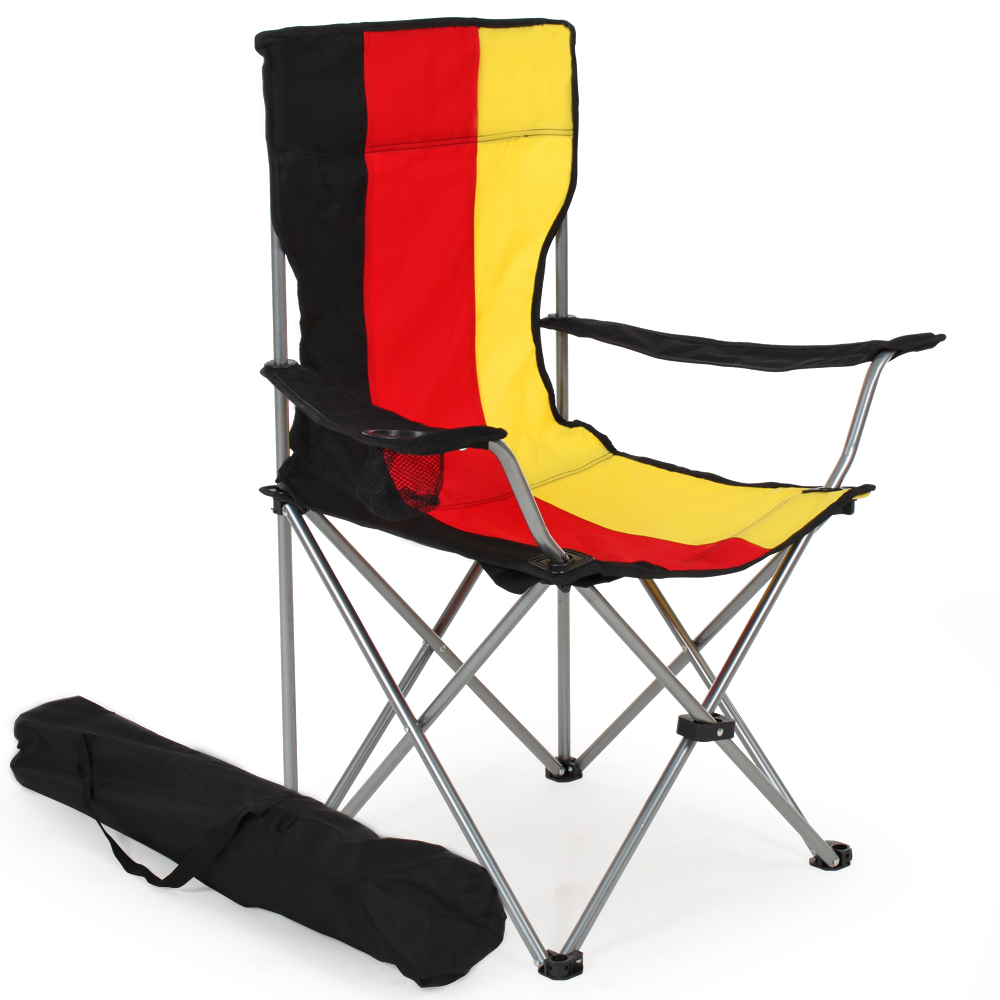 2x Heavy Duty Folding Camping Directors Chair With Cup Holder Portable German