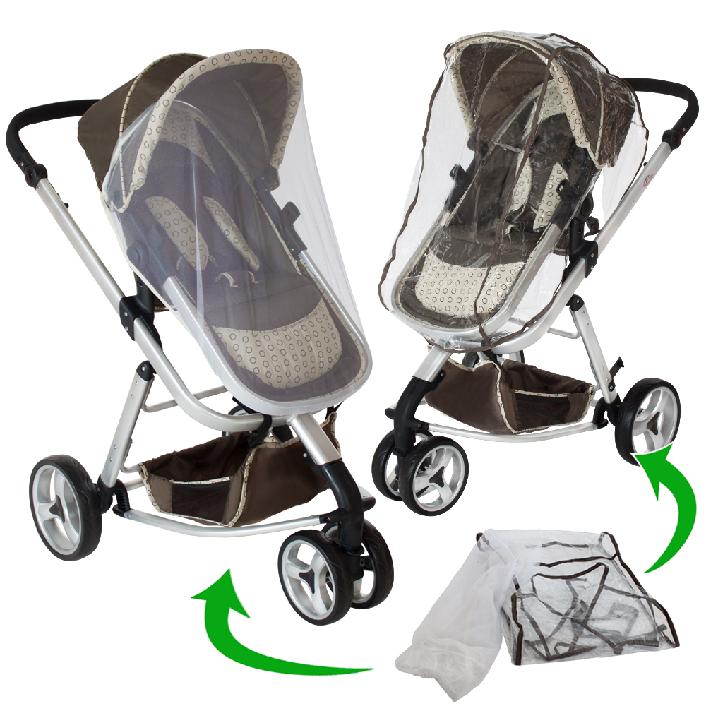 pram travel system 3 in 1 combi stroller buggy baby jogger pushchair brown ebay. Black Bedroom Furniture Sets. Home Design Ideas