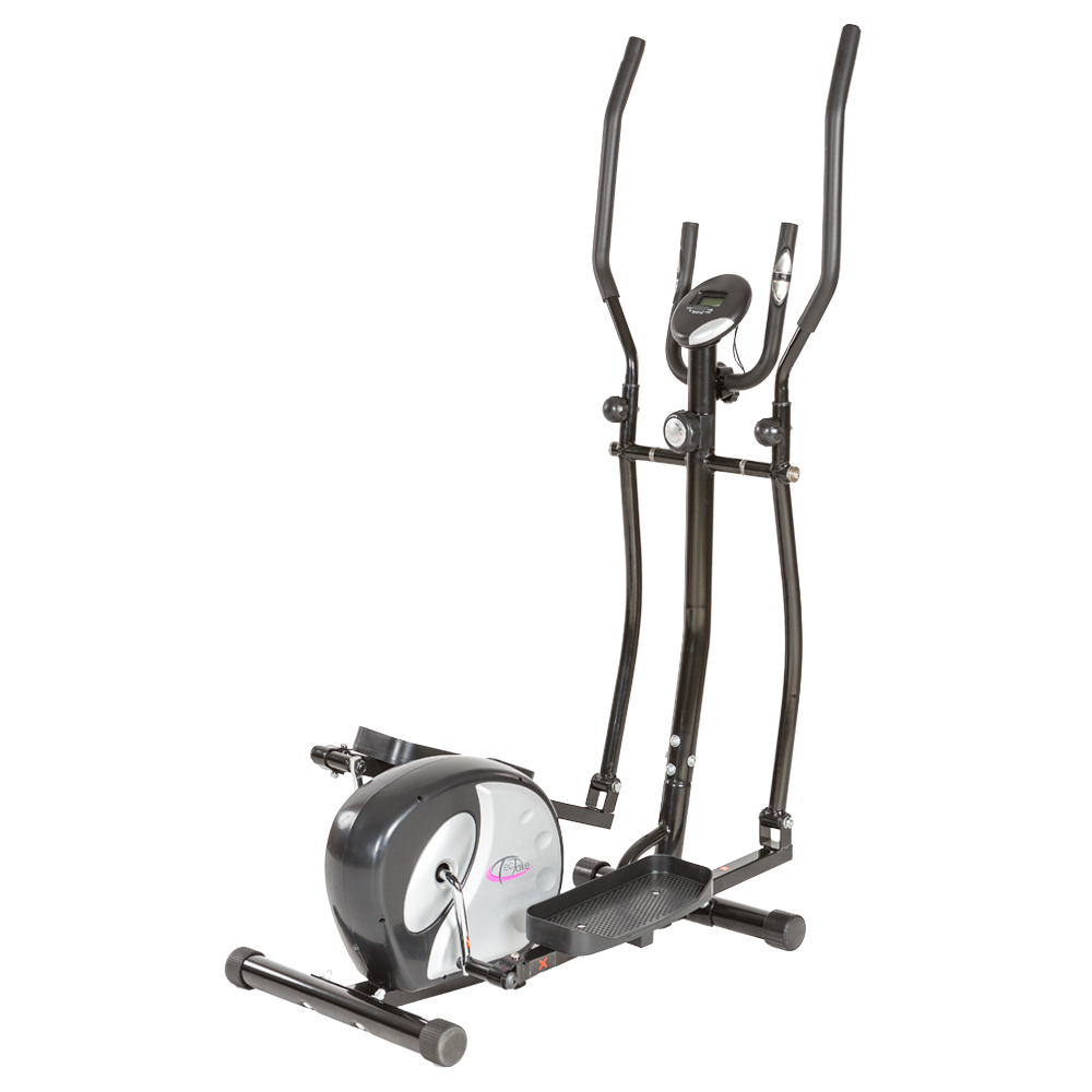 V lo elliptique avec ordinateur lcd appareil de fitness stepper cardio gym - Velo elliptique cardio training ...