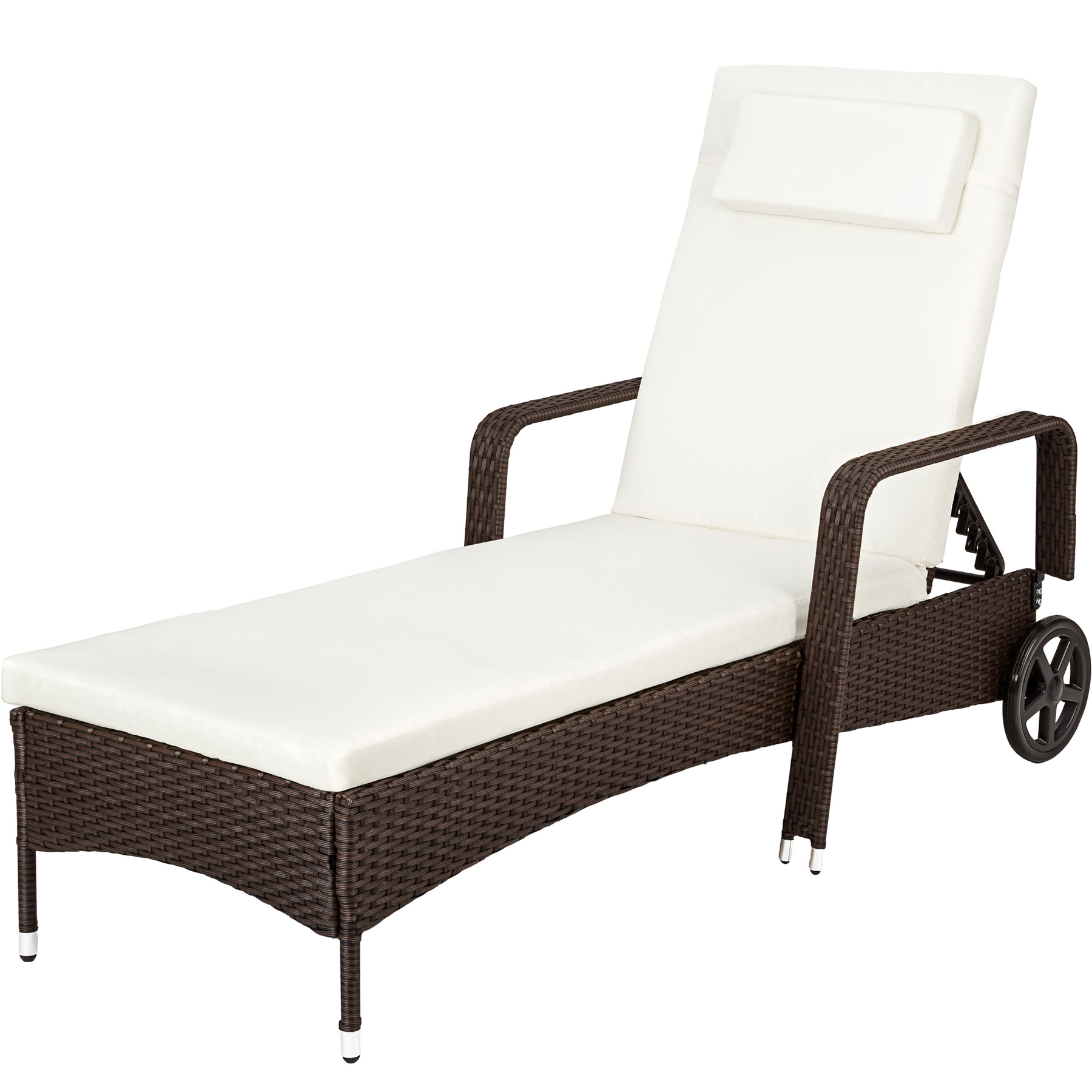 rattan day bed sun canopy lounger recliner garden patio. Black Bedroom Furniture Sets. Home Design Ideas