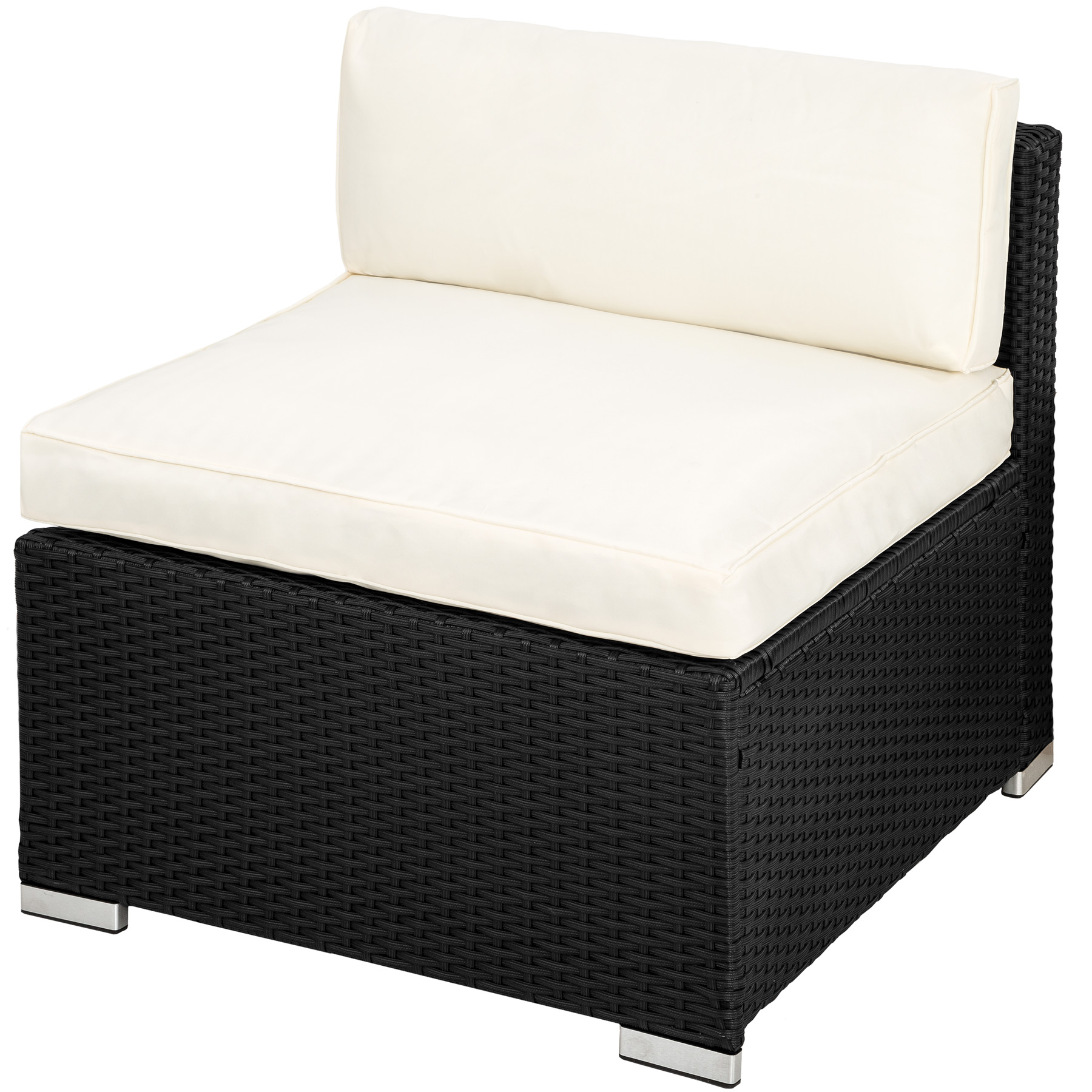 poly rattan alu garnitur sitzgruppe rattanm bel gartengernitur lounge schwarz ebay. Black Bedroom Furniture Sets. Home Design Ideas