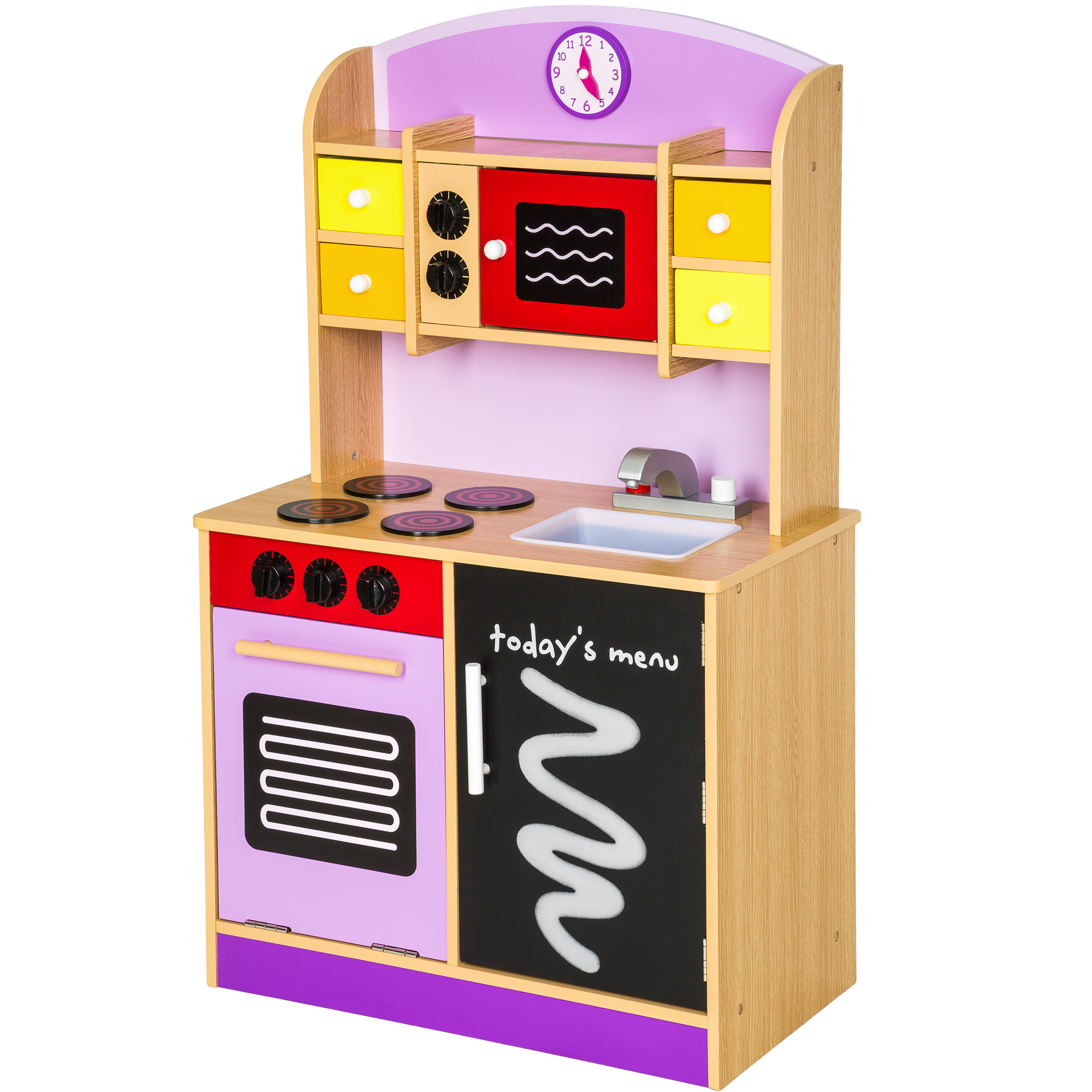 details about wooden childrens kids kitchen pretend role play cooking