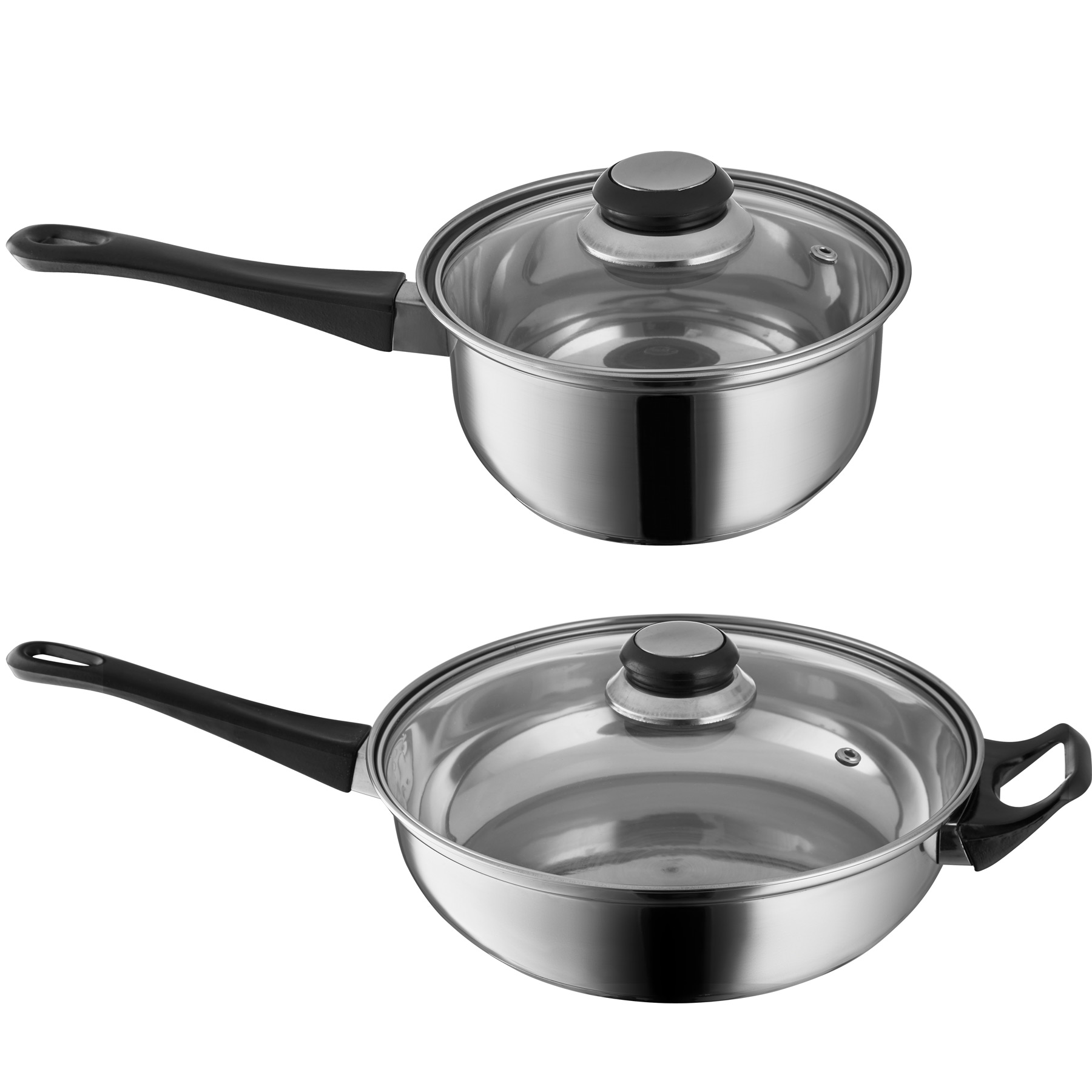 12 piece stainless steel cooking pots lids frying pan cooking pot set saucepan ebay. Black Bedroom Furniture Sets. Home Design Ideas