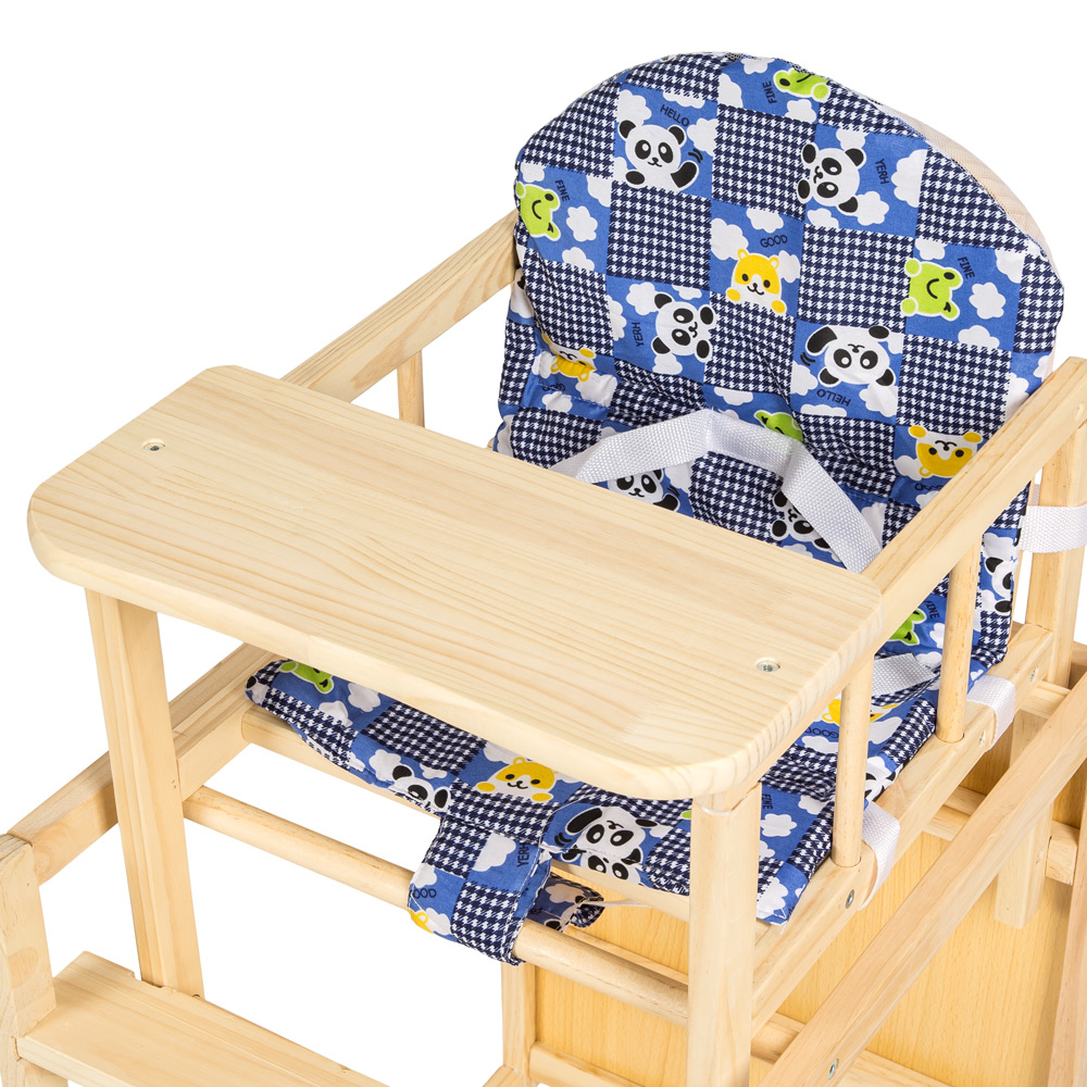 kinderhochstuhl kombihochstuhl hochstuhl babyhochstuhl baby stuhl tisch blau ebay. Black Bedroom Furniture Sets. Home Design Ideas