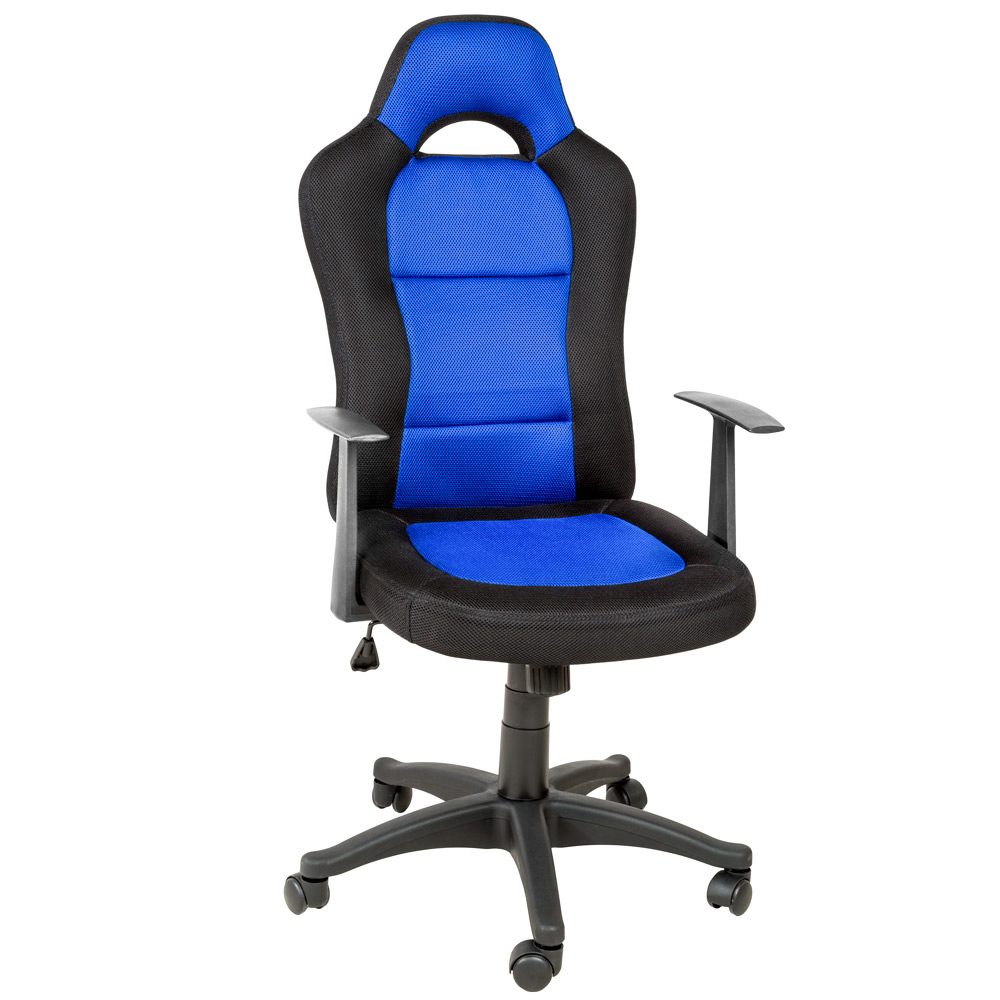 OFFICE CHAIR RACING CAR SEAT LUXUS COMPUTER EXECUTIVE RECLINING BLACK