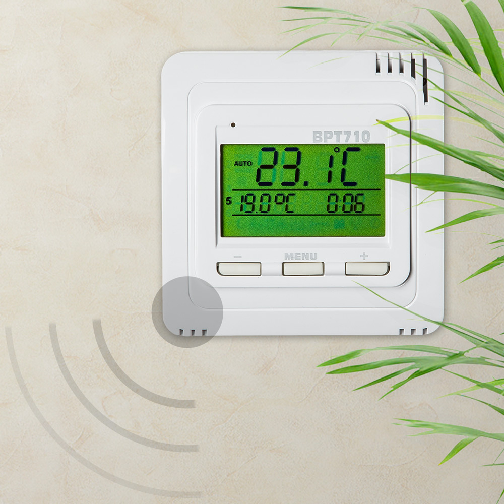 thermostat raumthermostat heizk rper fu bodenheizung digital temperatursensor n ebay. Black Bedroom Furniture Sets. Home Design Ideas