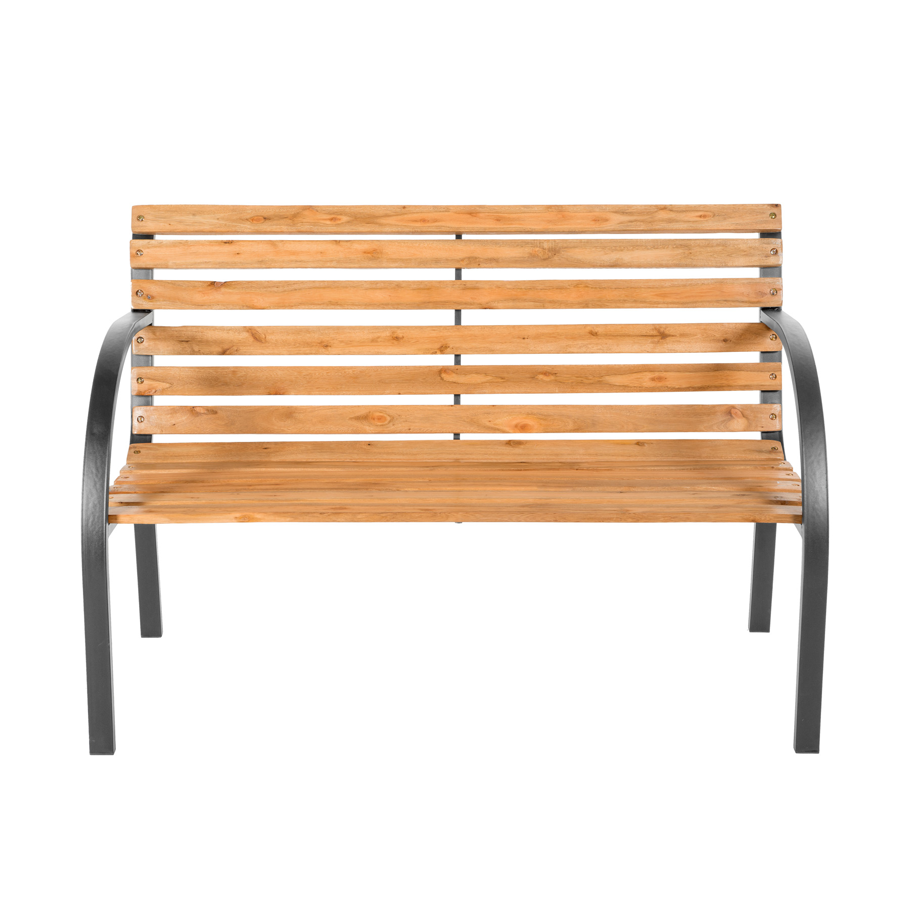wooden garden bench eucalyptus wood seat with metal legs. Black Bedroom Furniture Sets. Home Design Ideas