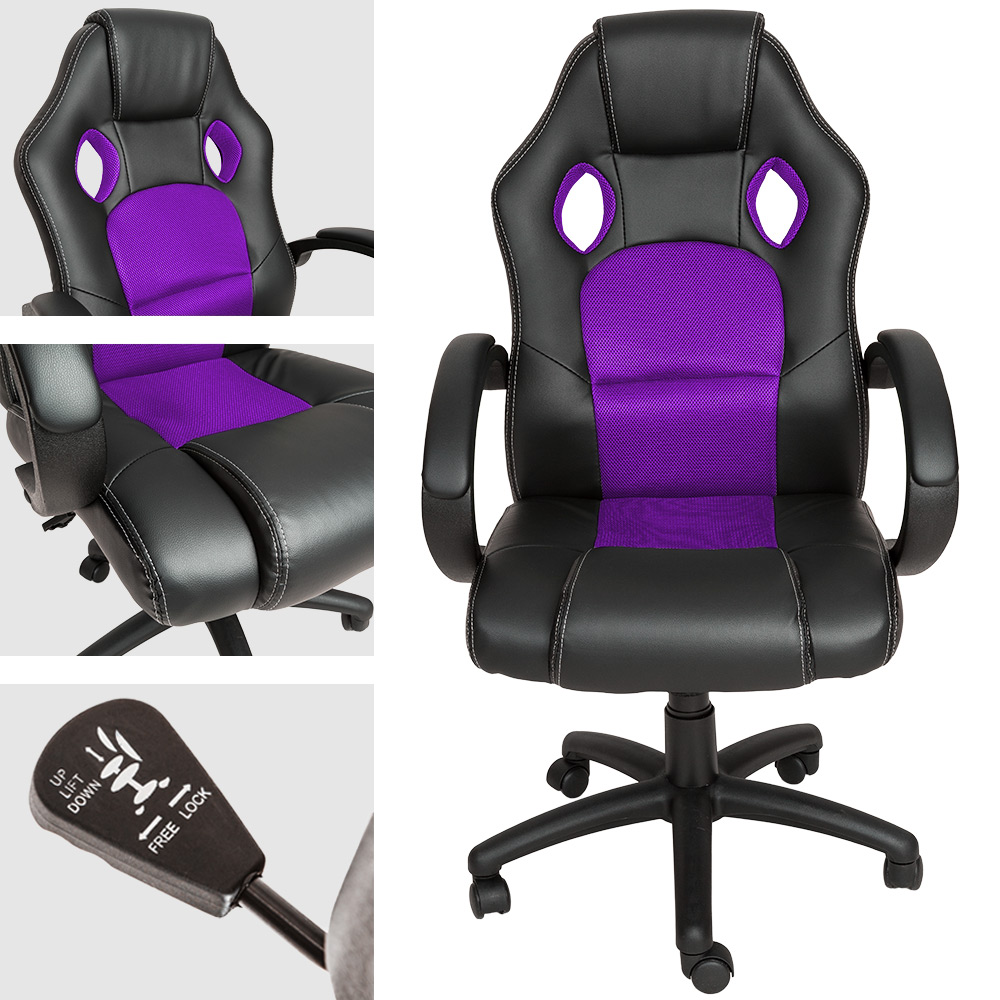 Office Chair Swivel Chairwith Extra Padding In A Sports Racing Style