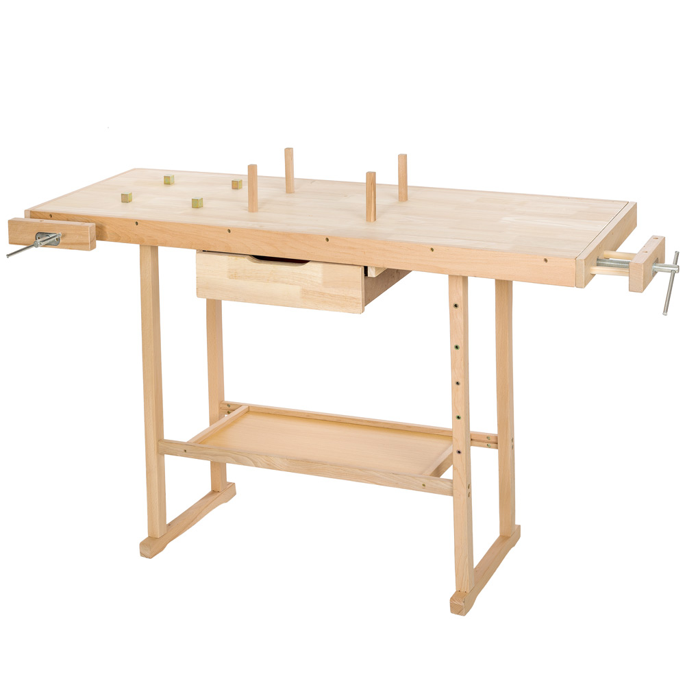 tabli en bois rangement outils atelier bricolage table garage plan de travail ebay. Black Bedroom Furniture Sets. Home Design Ideas