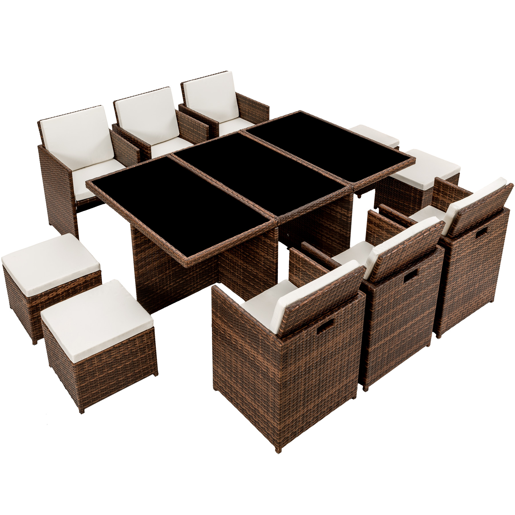 poly rattan gartenm bel set garnitur sitzgarnitur. Black Bedroom Furniture Sets. Home Design Ideas