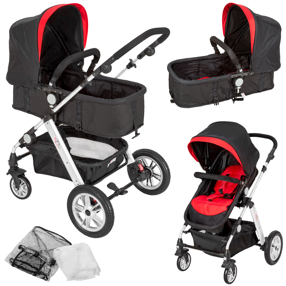 2 in 1 kinderwagen alu kombikinderwagen buggy babyjogger. Black Bedroom Furniture Sets. Home Design Ideas