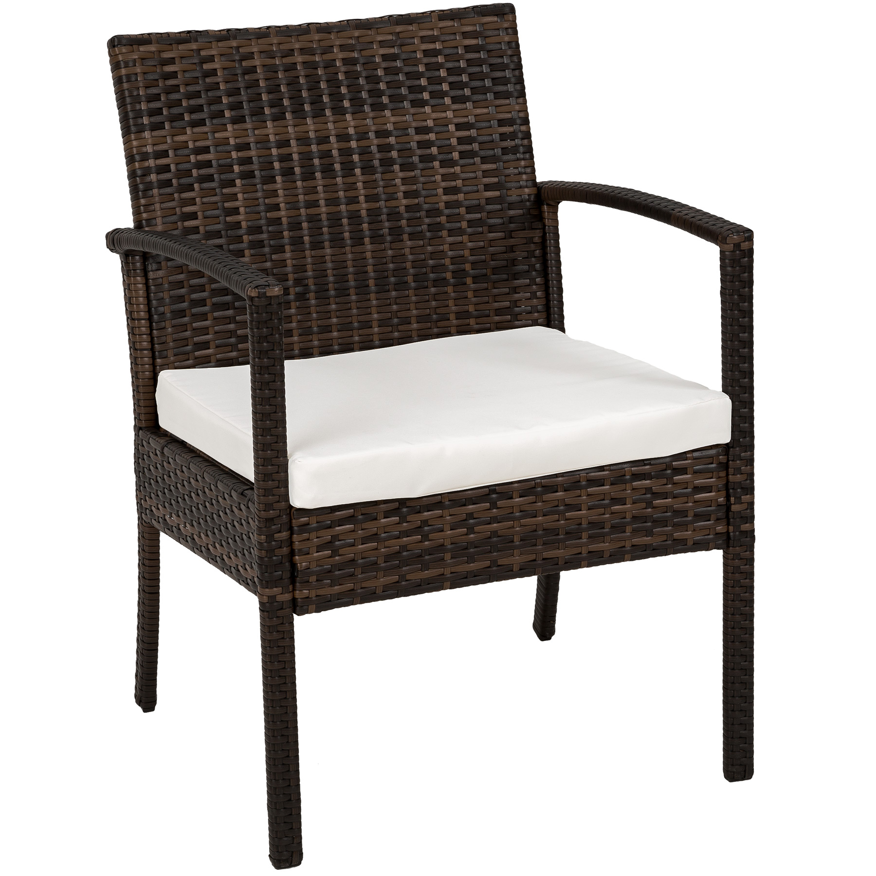 poly rattan garden furniture 2 chairs bench table set. Black Bedroom Furniture Sets. Home Design Ideas