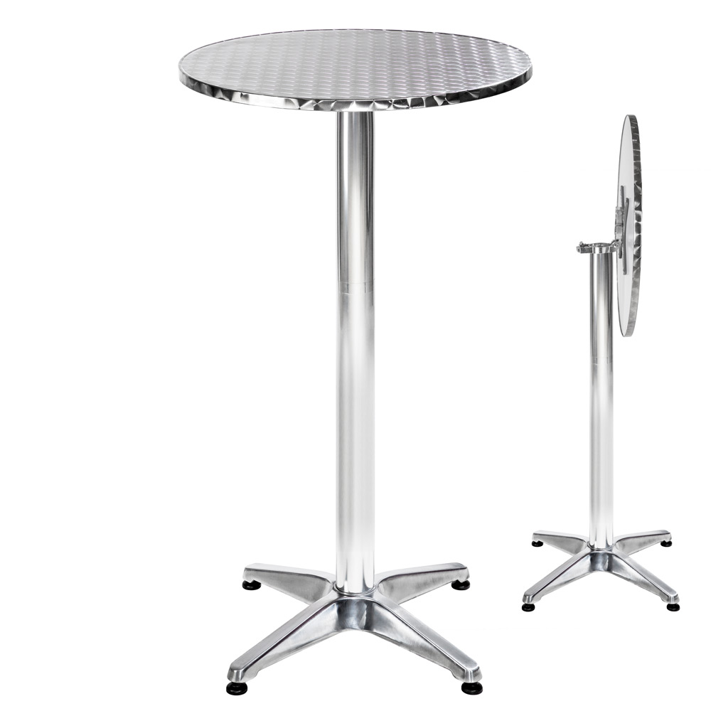 Table haute de bar aluminium bistrot restaurant 60cm - Table bistrot rectangulaire aluminium ...