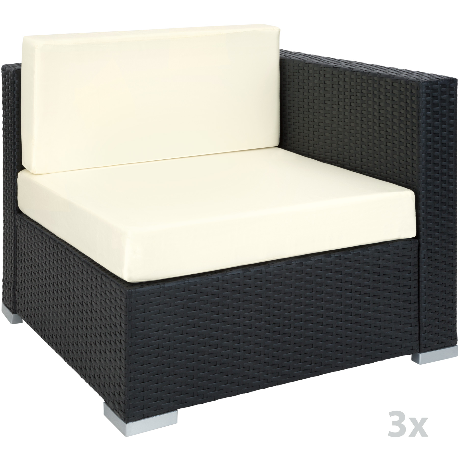 xxl aluminium luxury rattan garden furniture sofa set. Black Bedroom Furniture Sets. Home Design Ideas
