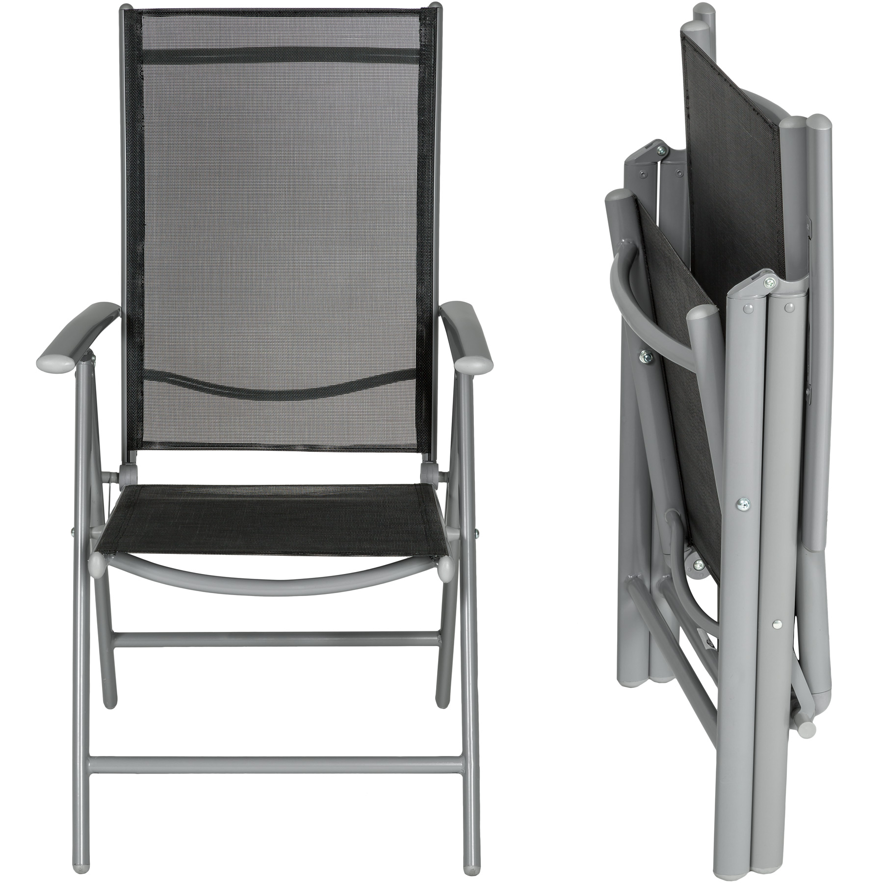 set alu klappstuhl gartenstuhl aluminium campingstuhl hochlehner ebay. Black Bedroom Furniture Sets. Home Design Ideas