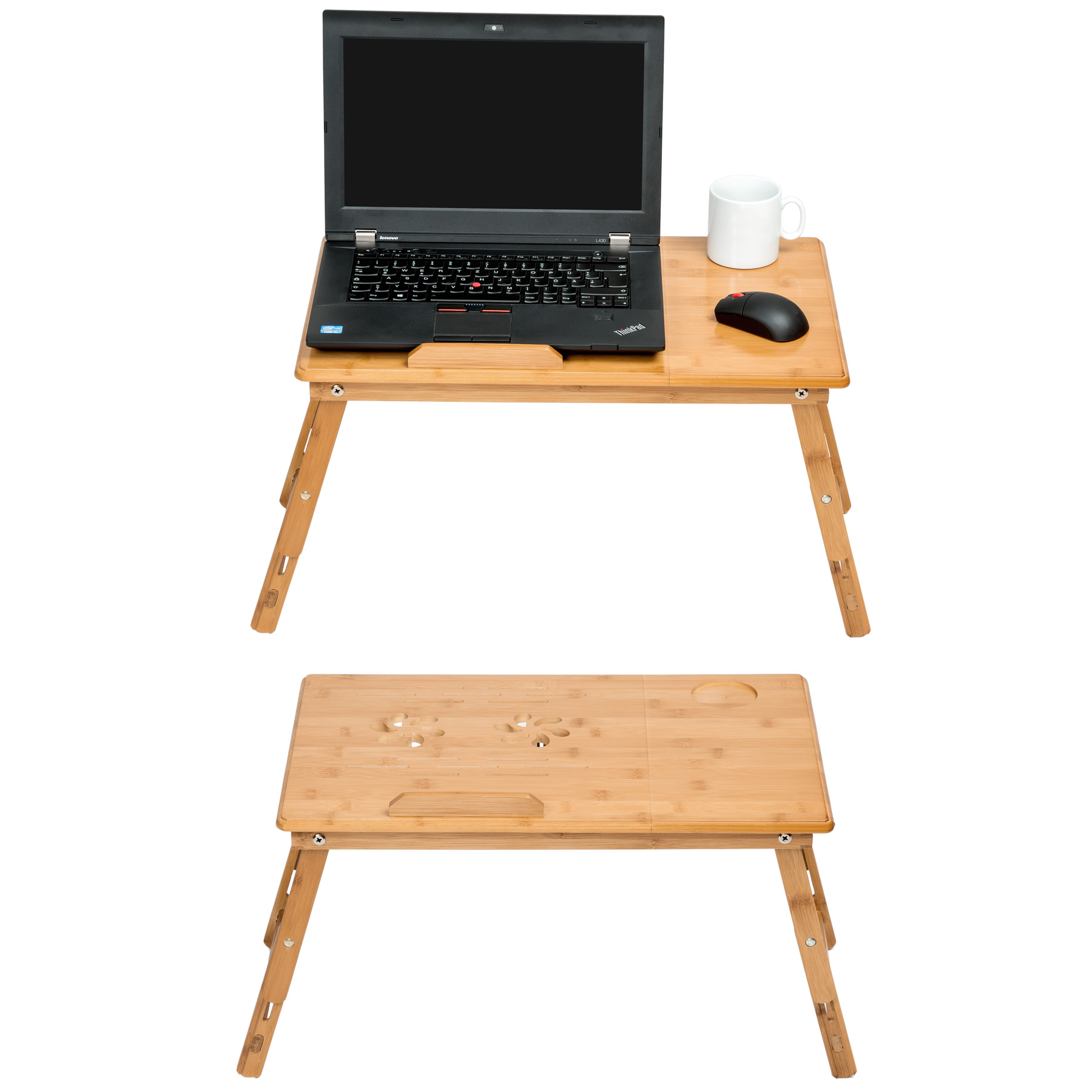 table de lit pliable pour pc portable notebook ipad tablet en bambou avec tiroir ebay. Black Bedroom Furniture Sets. Home Design Ideas