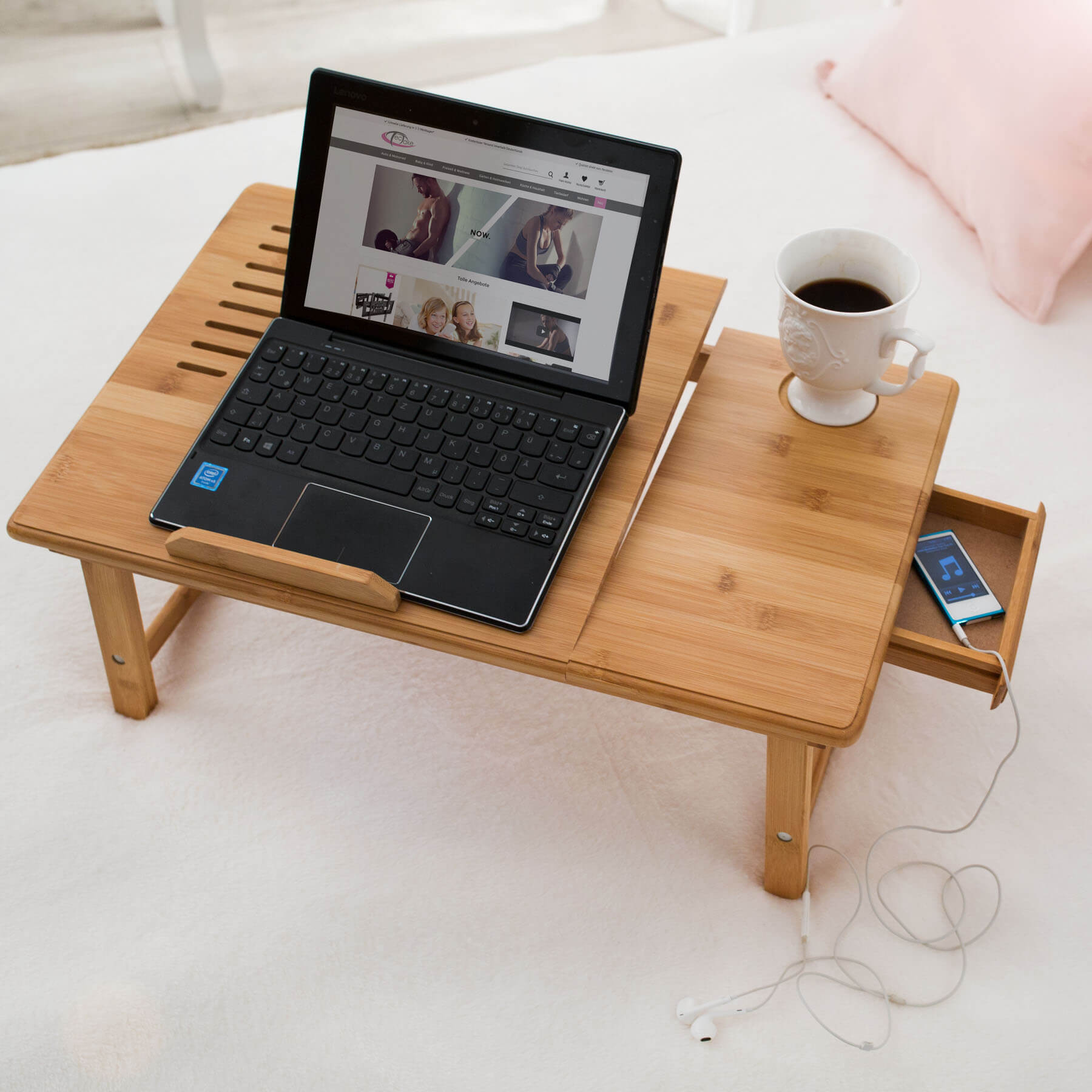 Mesa para port til mesita de cama laptop ordenador for Futon portatil