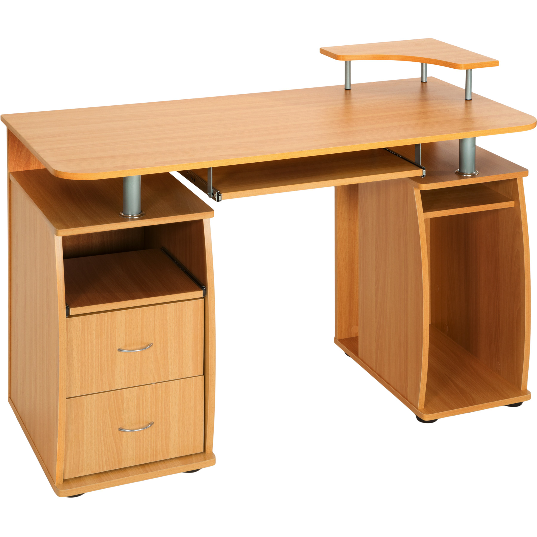desk table office workstation study writing pc furniture drawers