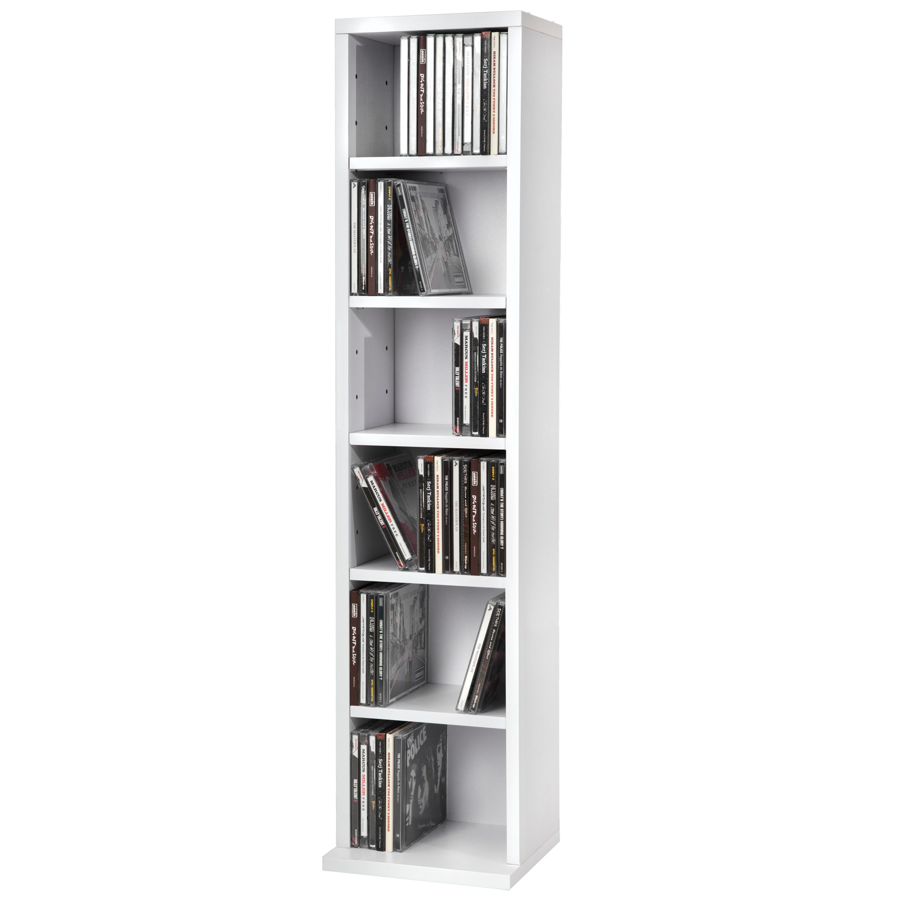 tag re rangement cd dvd meuble de rangement pour 102 cds m dia unit blanc ebay. Black Bedroom Furniture Sets. Home Design Ideas