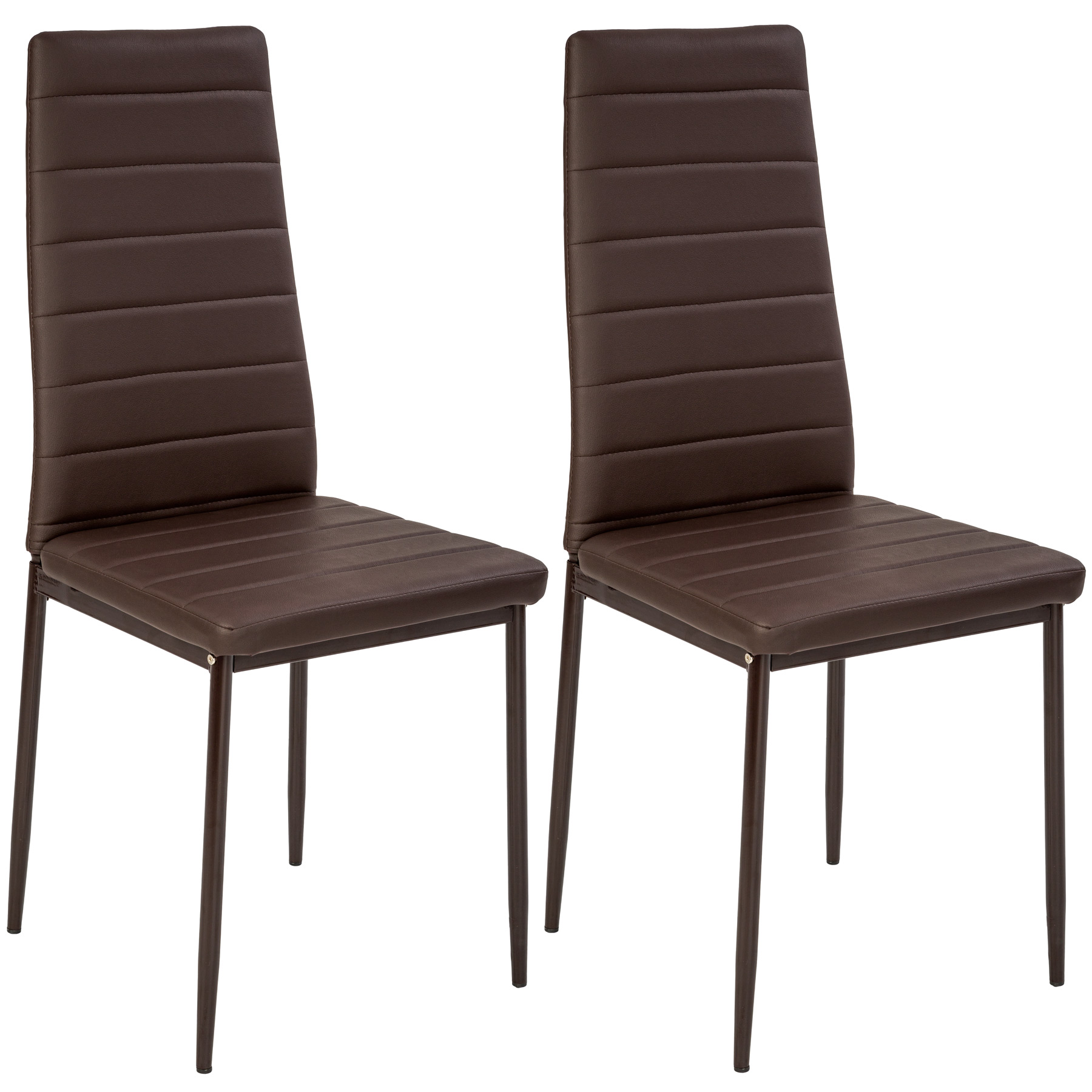 Modern dining chairs dining room chair table faux leather for Modern leather dining room chairs