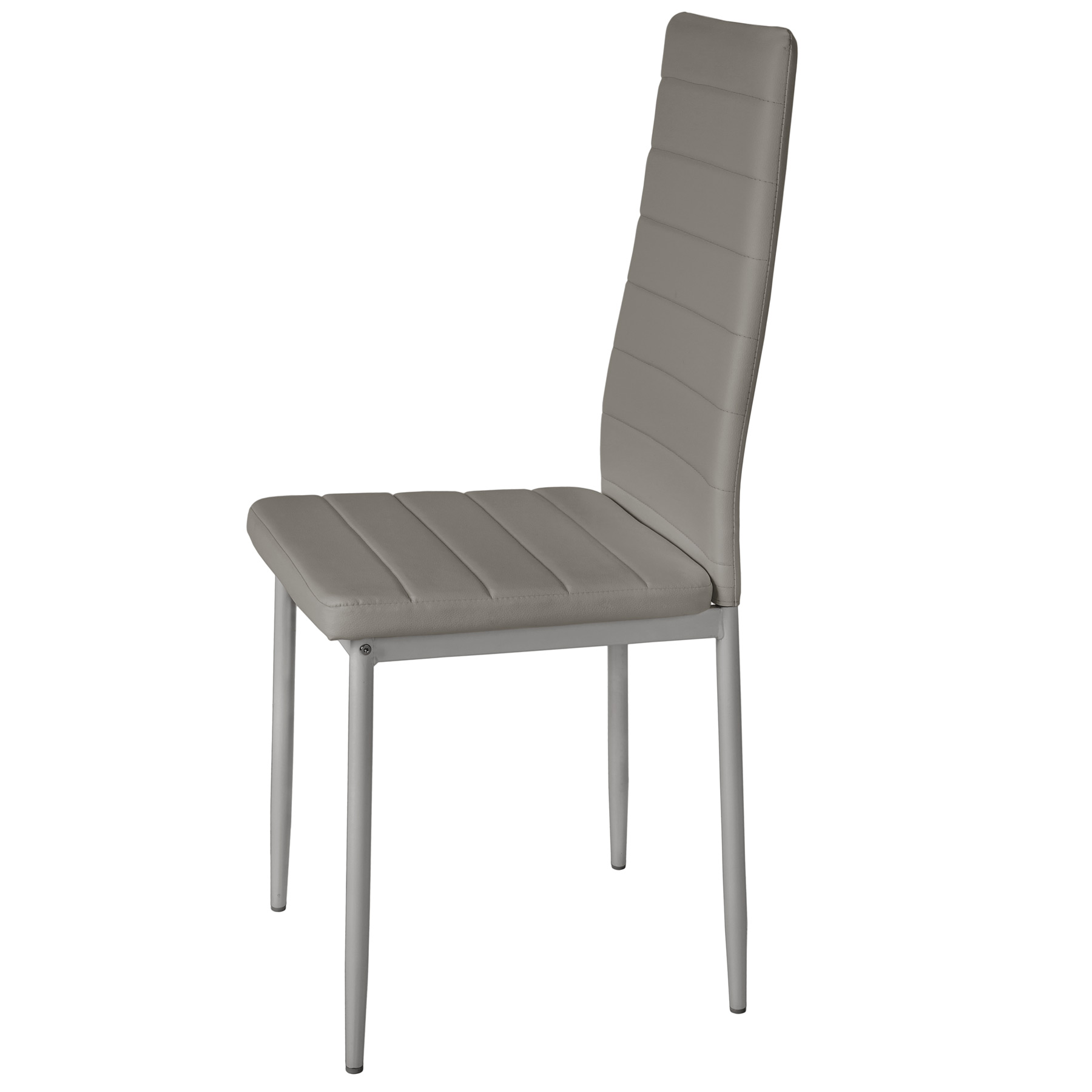 4 modern dining chairs dining room chair table faux leather furniture cozy grey ebay. Black Bedroom Furniture Sets. Home Design Ideas