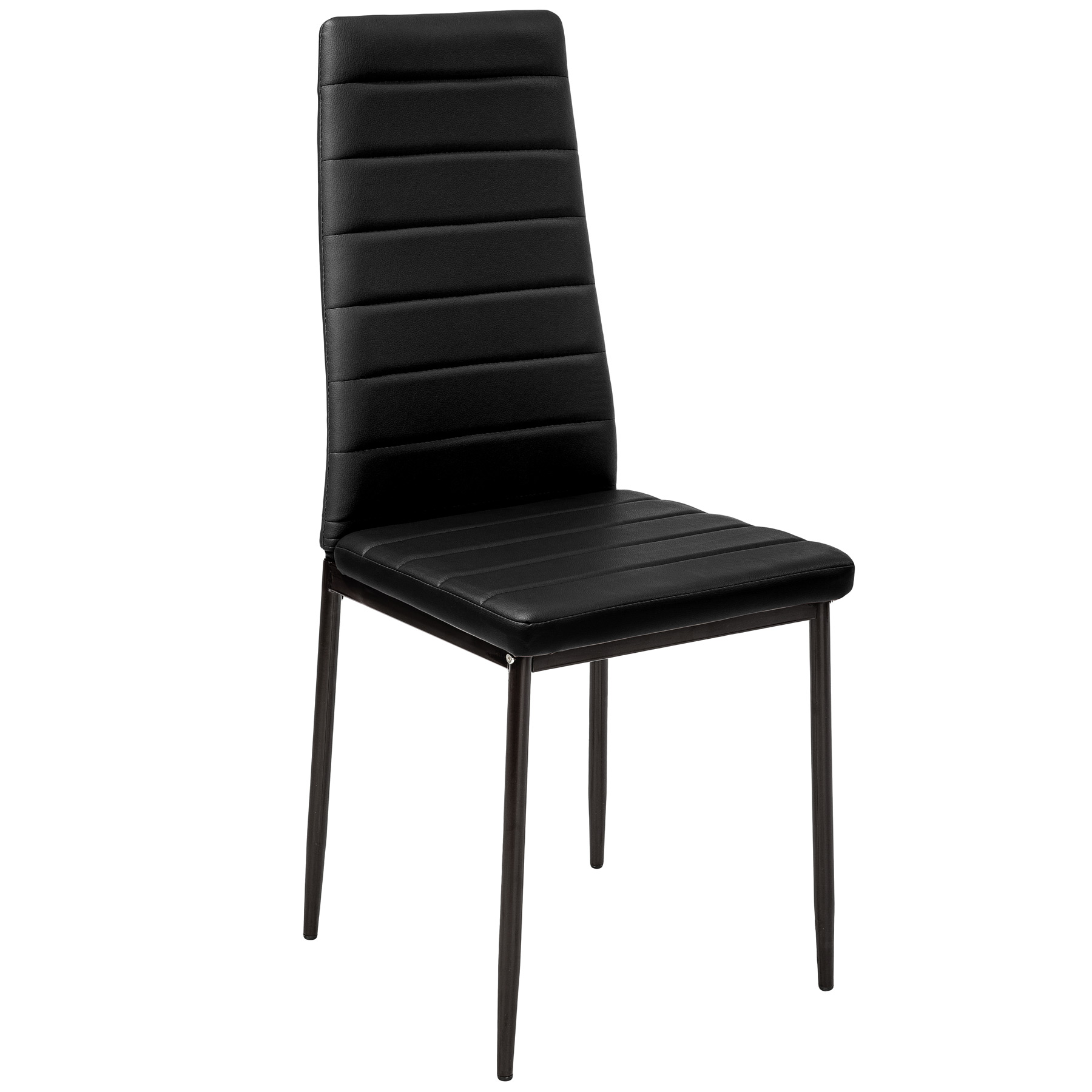 6 modern dining chairs dining room chair table faux leather furniture cozy black ebay - Modern leather dining room chairs ...