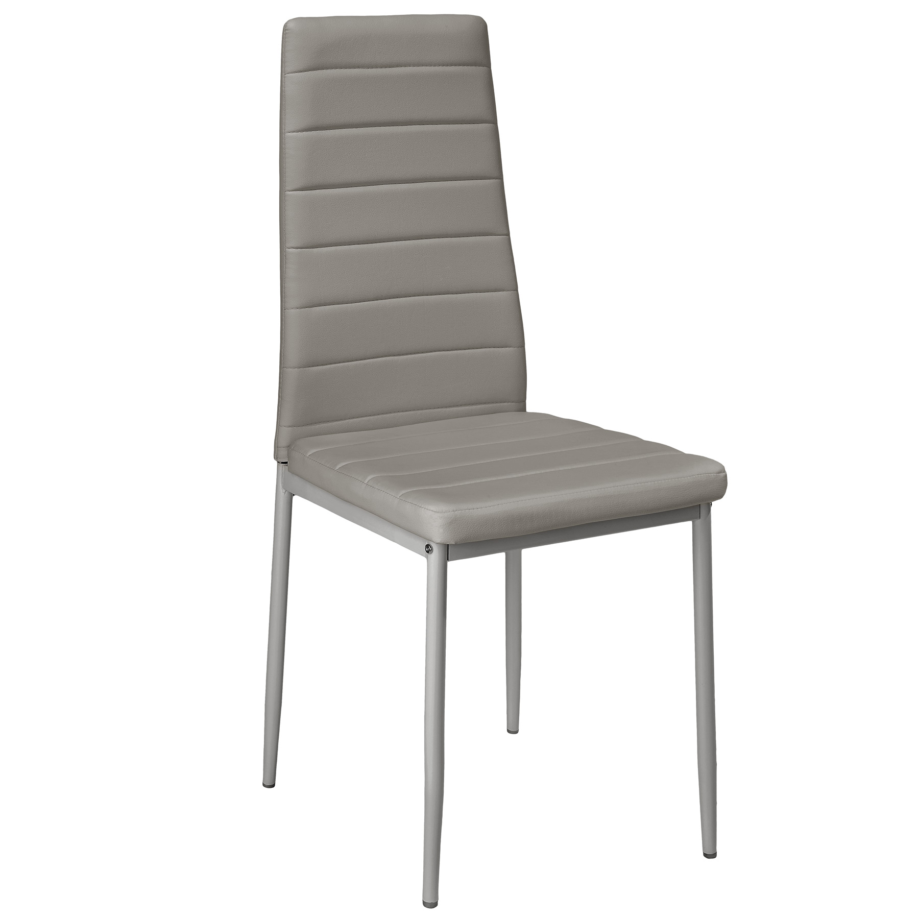 6 modern dining chairs dining room chair table faux leather furniture cozy grey ebay. Black Bedroom Furniture Sets. Home Design Ideas