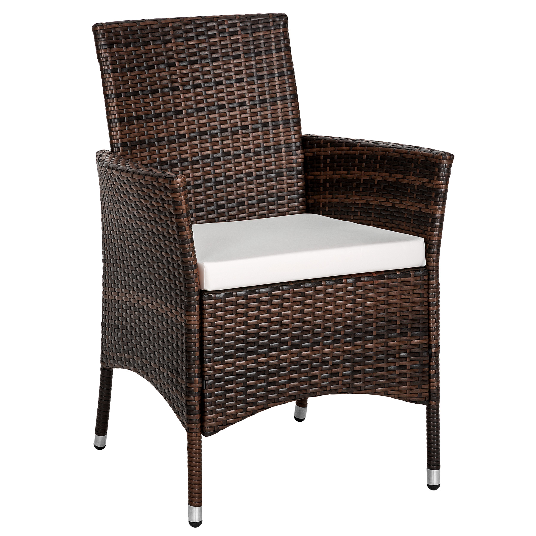 6 seater rattan garden furniture dining set chairs table for Outdoor furniture 3 seater