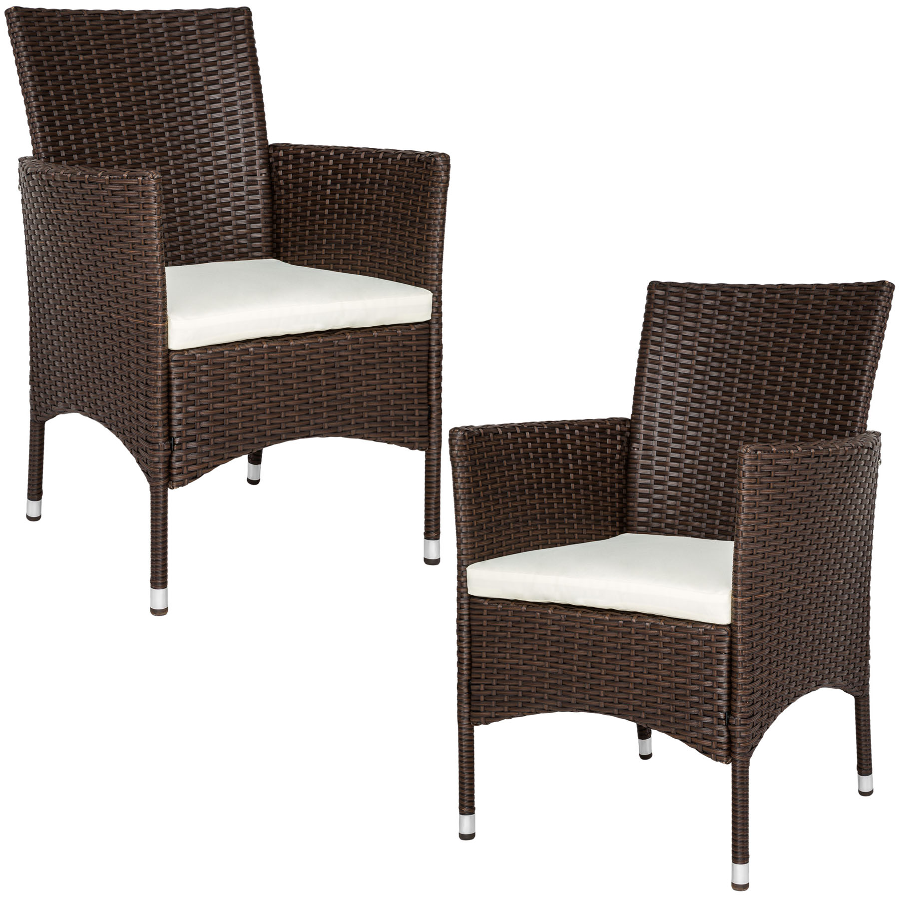 2er set polyrattan st hle gartenstuhl sessel rattanstuhl stuhl braun b ware ebay. Black Bedroom Furniture Sets. Home Design Ideas